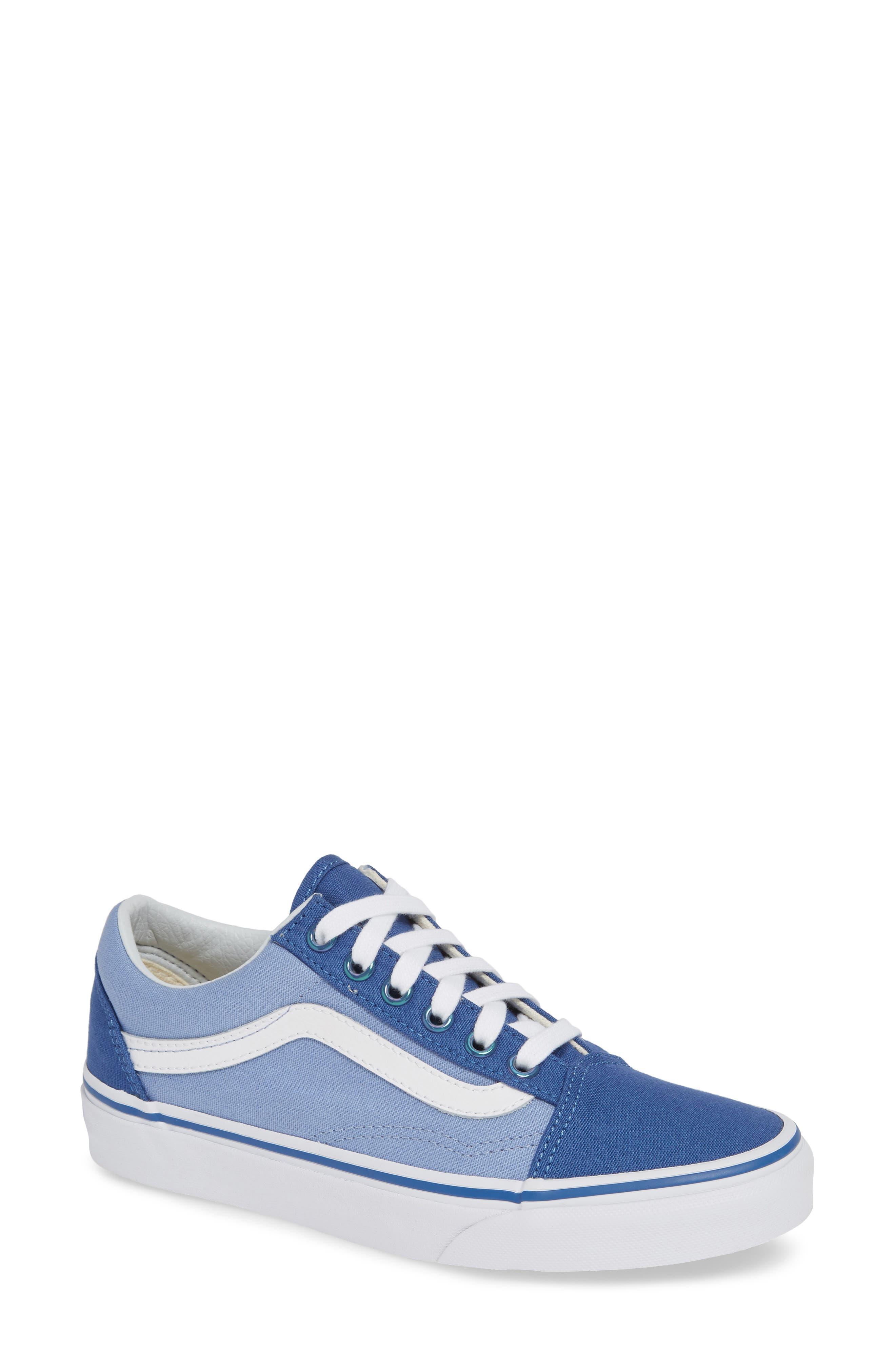Old Skool Sneaker,                             Main thumbnail 1, color,                             FEDERAL BLUE/ LAVENDER LUSTER