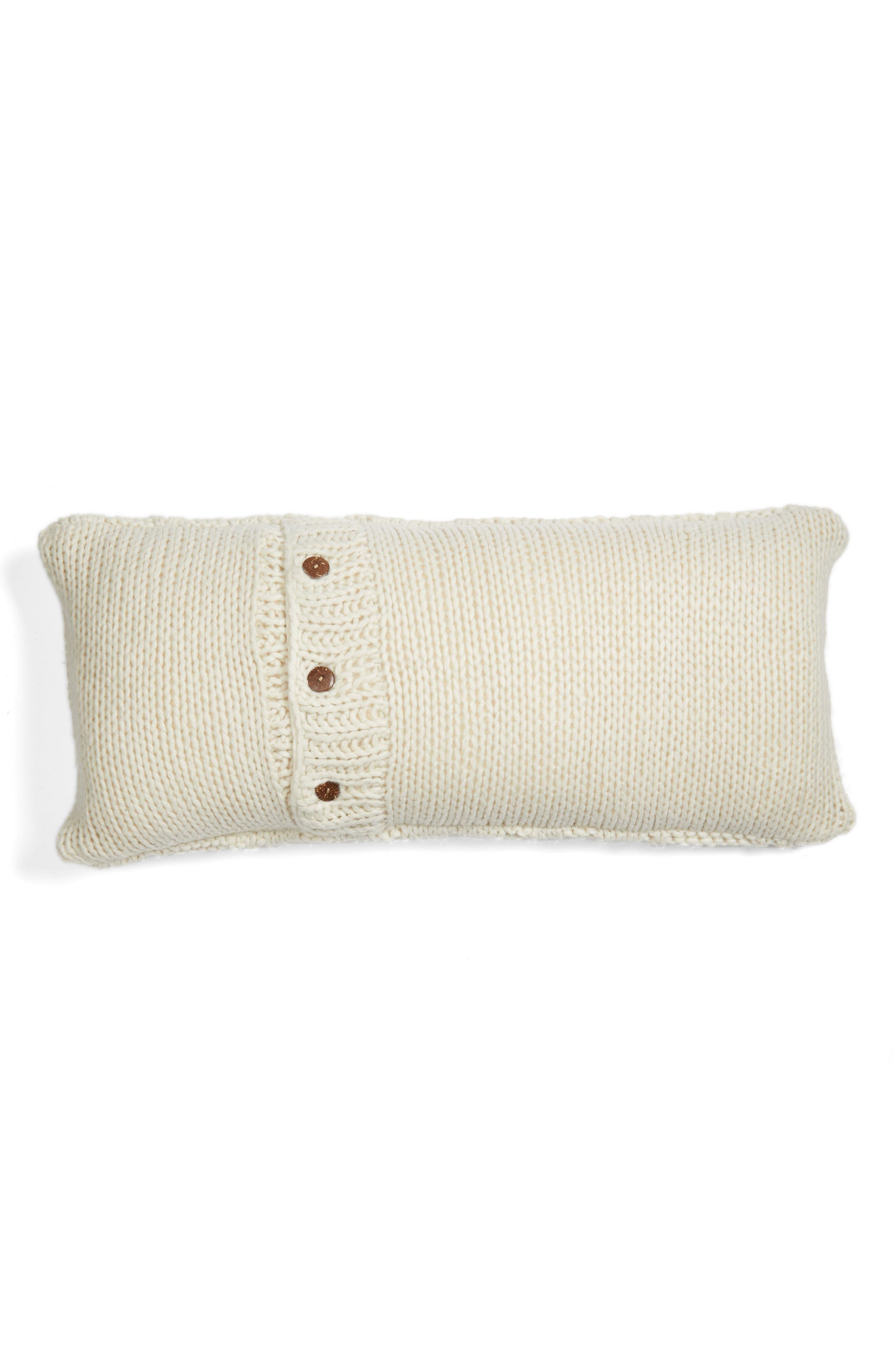 Cable Knit Accent Pillow,                             Alternate thumbnail 4, color,