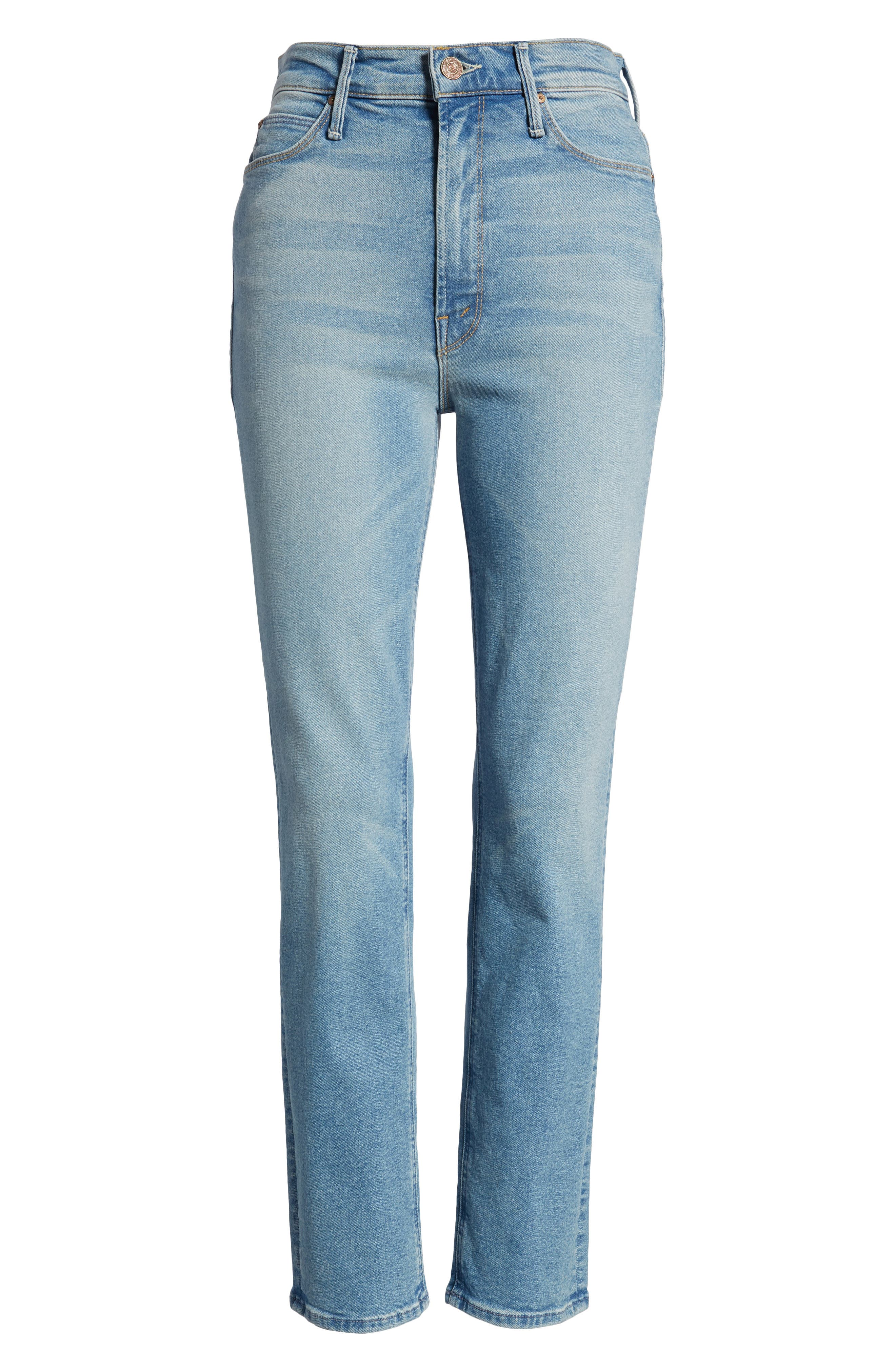 The Dazzler Ankle Straight Leg Jeans,                             Alternate thumbnail 7, color,                             READY TO ROLL
