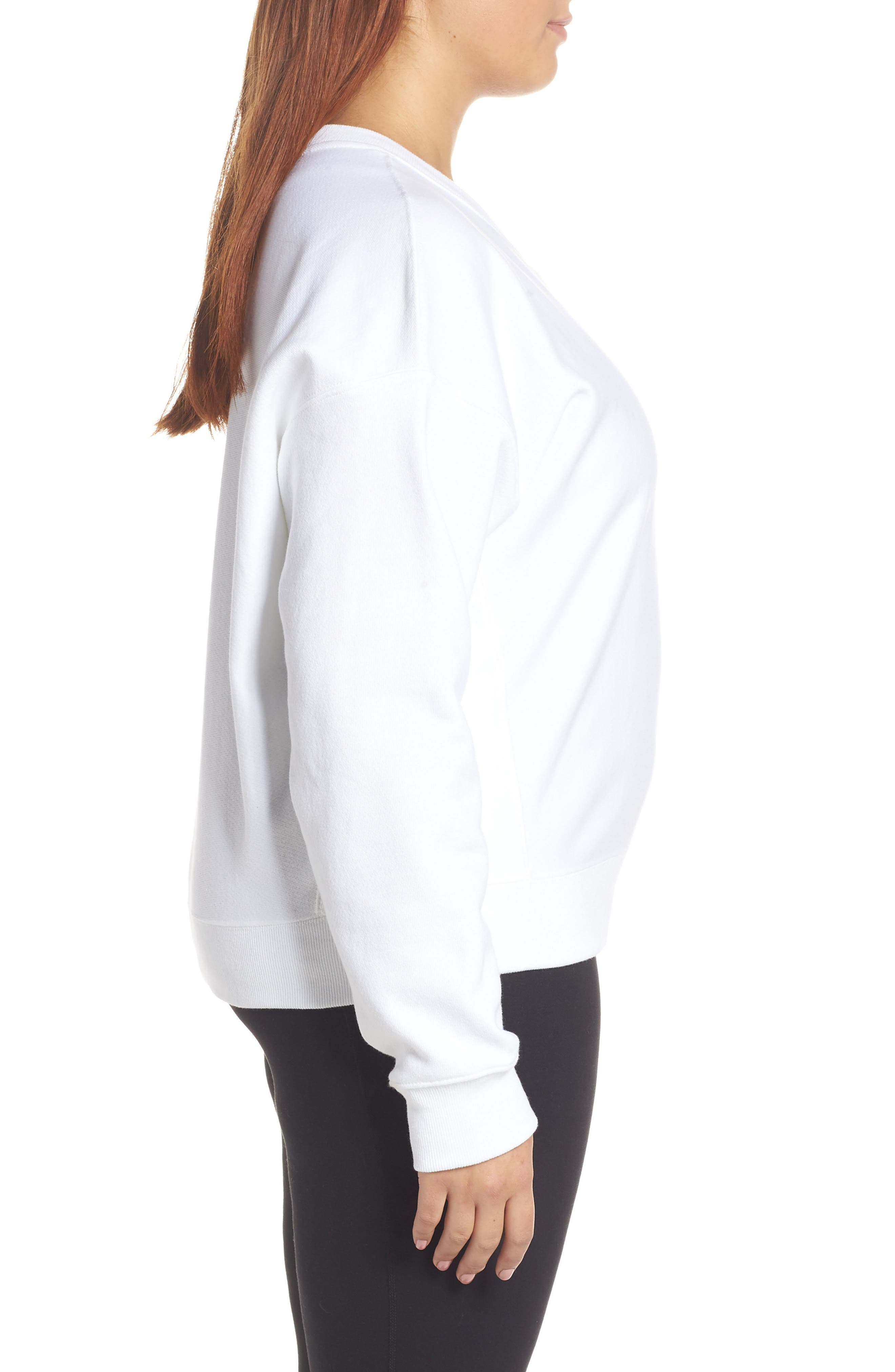 Sublimated Logo Sweatshirt,                             Alternate thumbnail 9, color,                             WHITE