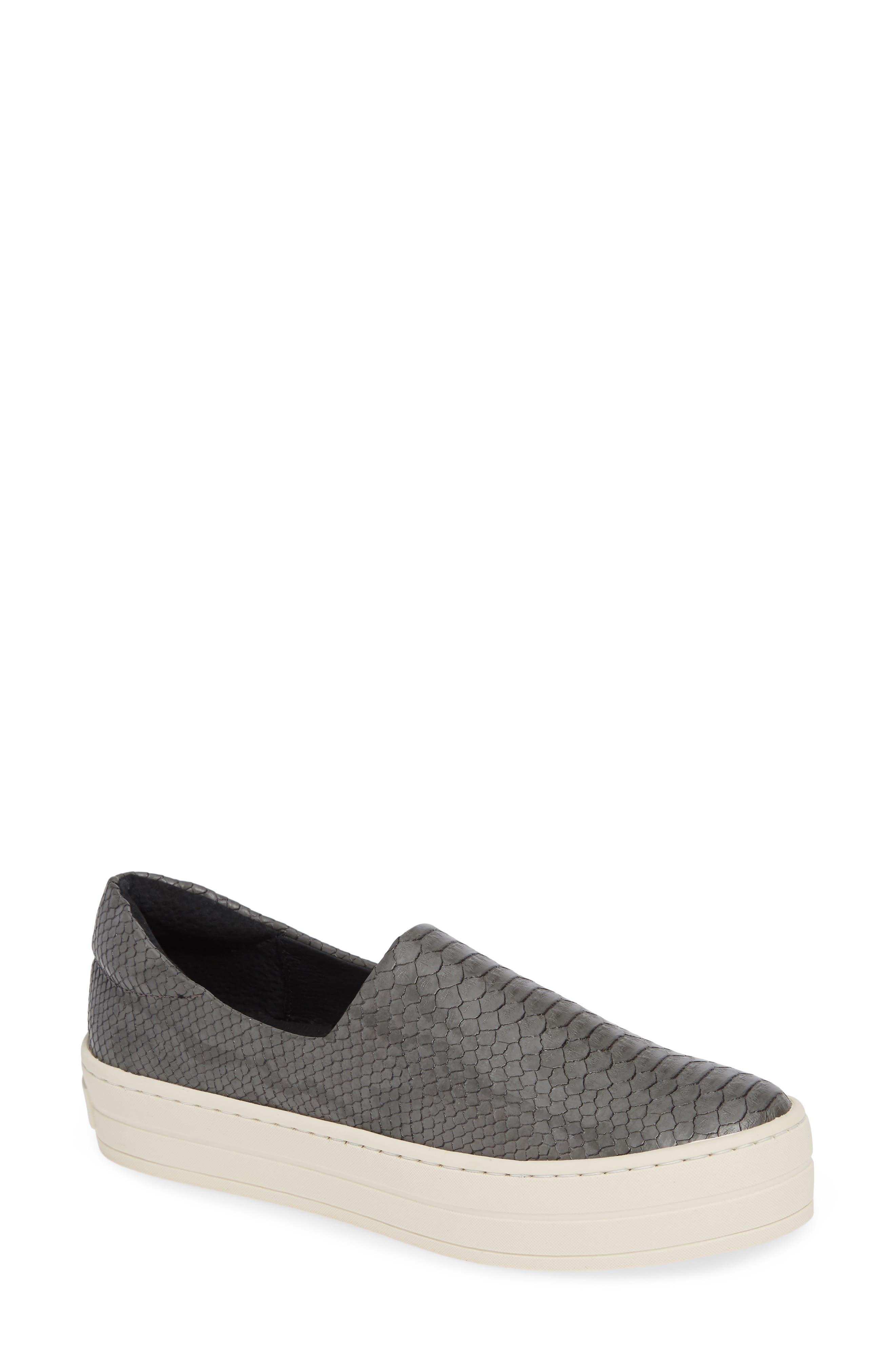 Jslides Harlow Slip-On Platform Sneaker, Grey