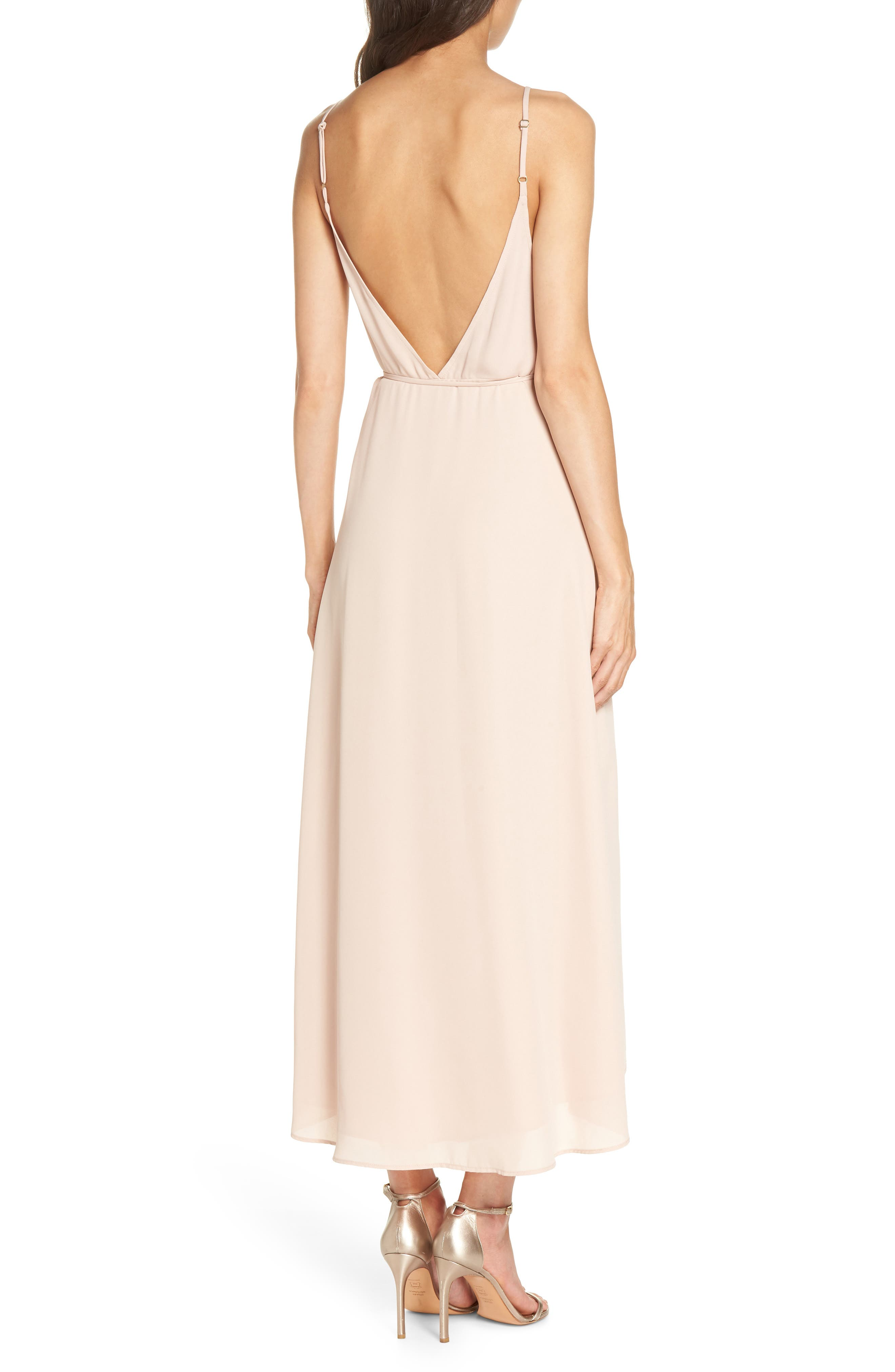 SHOW ME YOUR MUMU, Meghan Wrap Dress, Alternate thumbnail 2, color, DUSTY BLUSH
