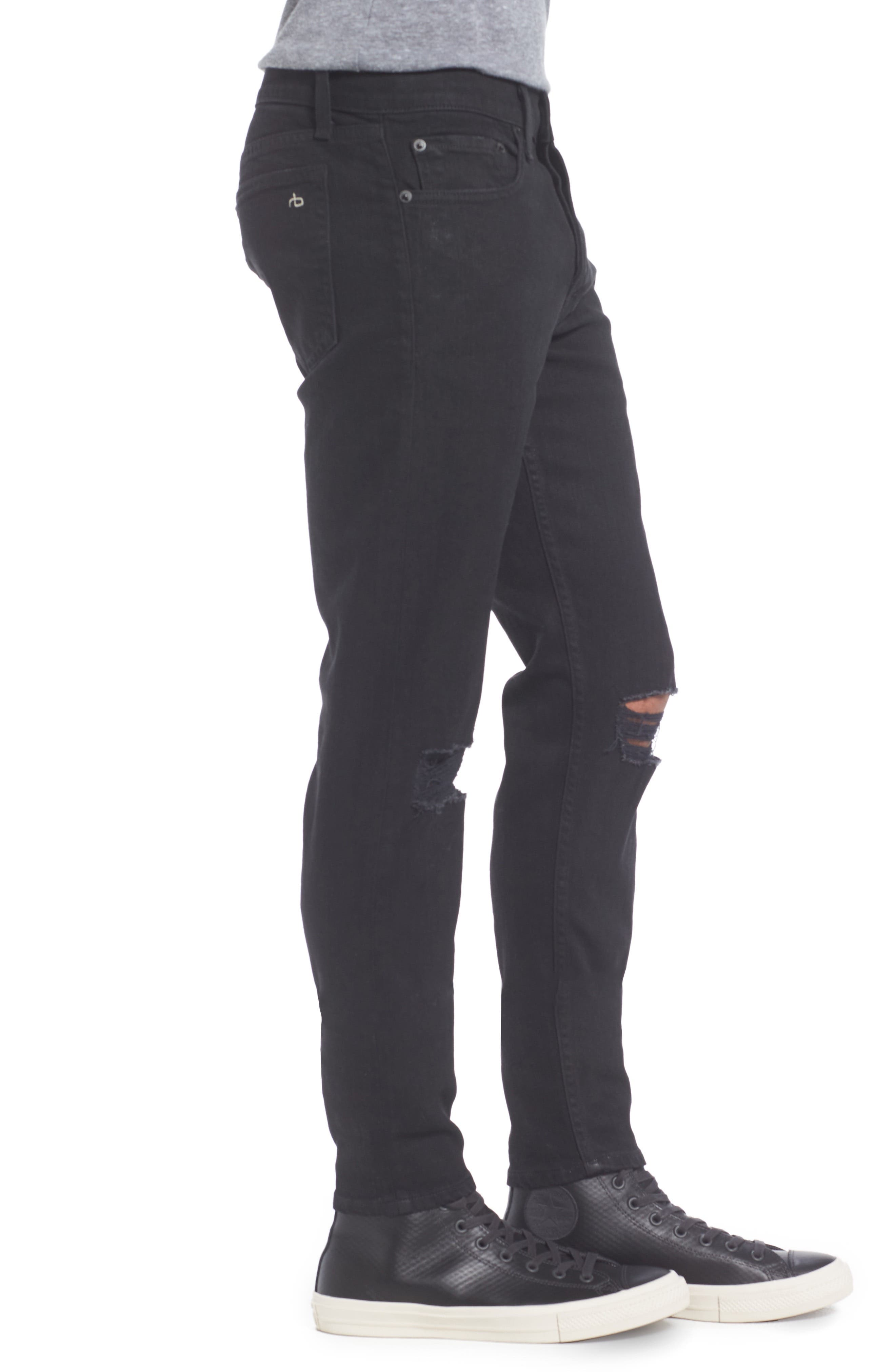 Fit 1 Skinny Fit Jeans,                             Alternate thumbnail 3, color,                             BLACK