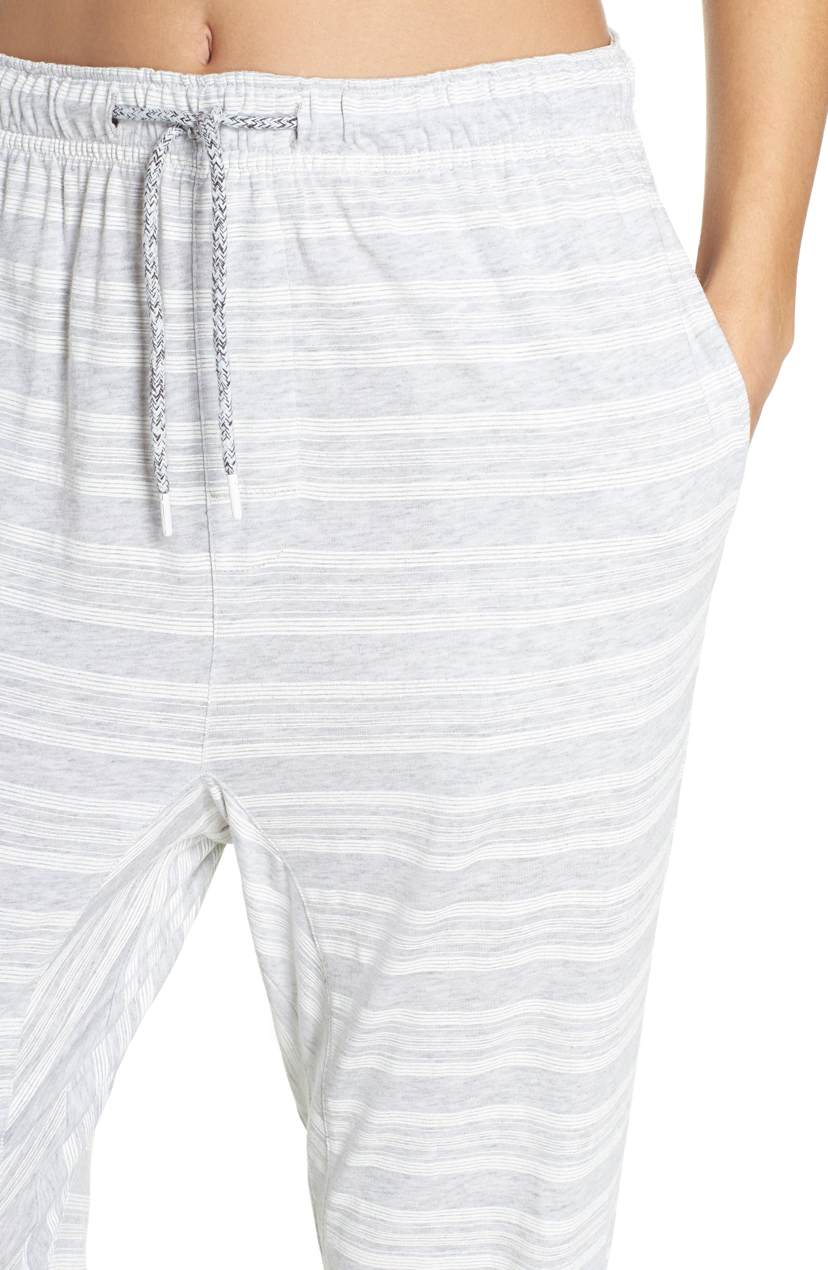 Alice Pajama Pants,                             Alternate thumbnail 4, color,                             LOLLY STRIPE WHITE