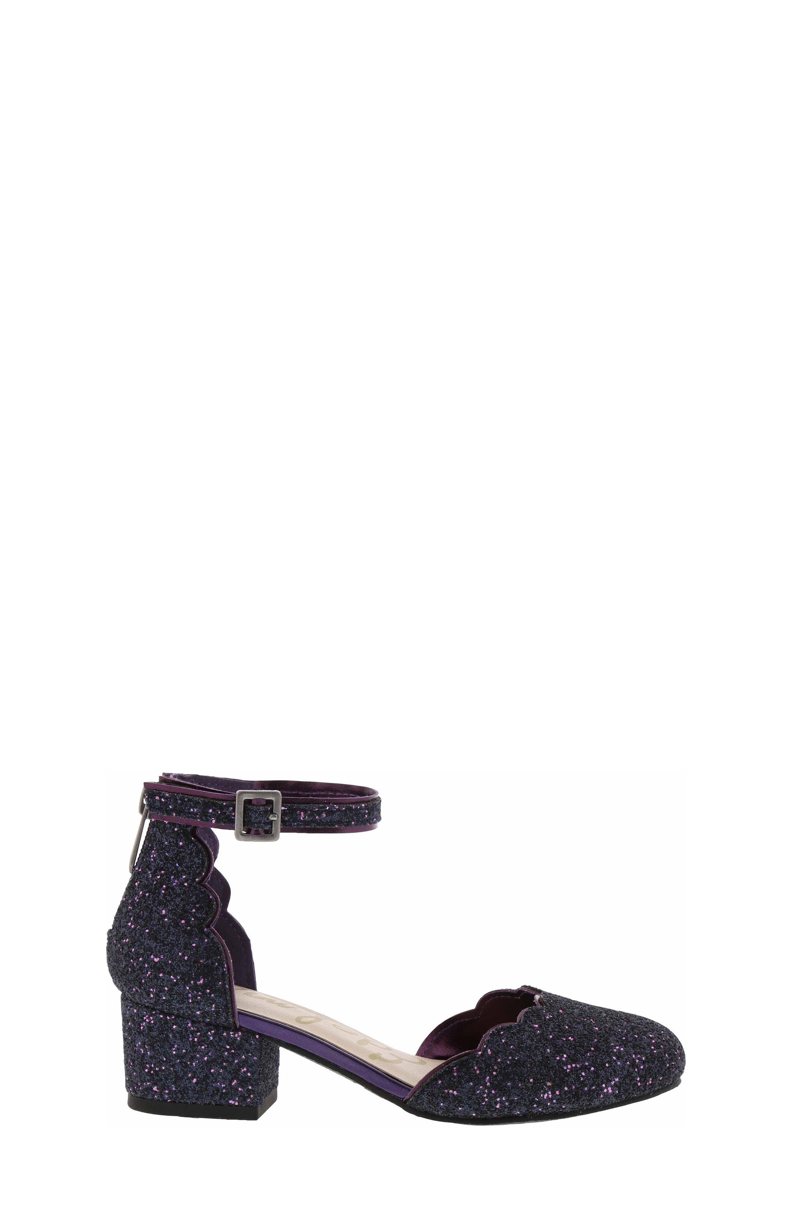 Evelyn Inara Glitter Ankle Strap Pump,                             Alternate thumbnail 2, color,                             PURPLE MULTI
