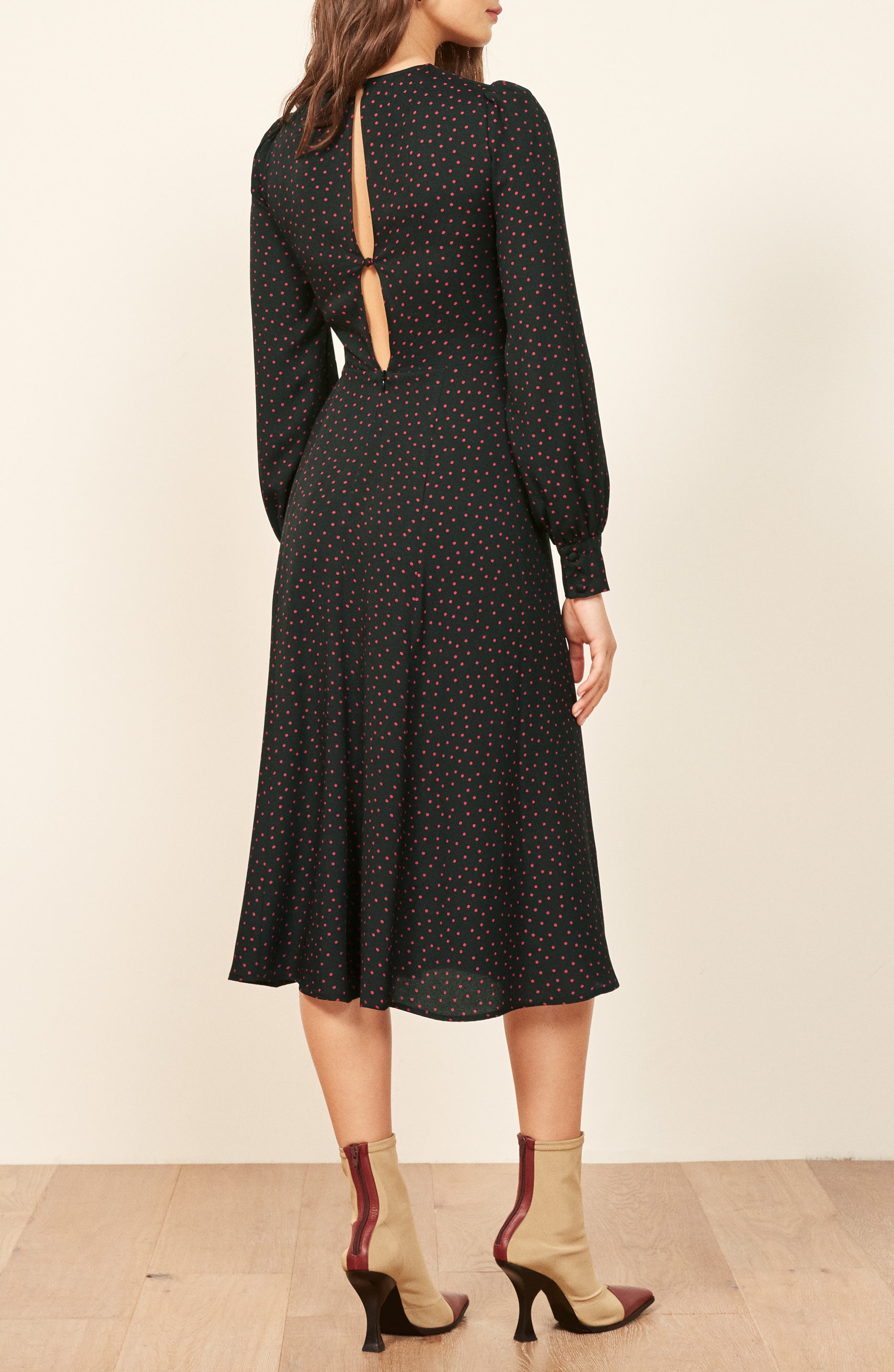 Josephine Midi Dress,                             Alternate thumbnail 2, color,                             NATALIA