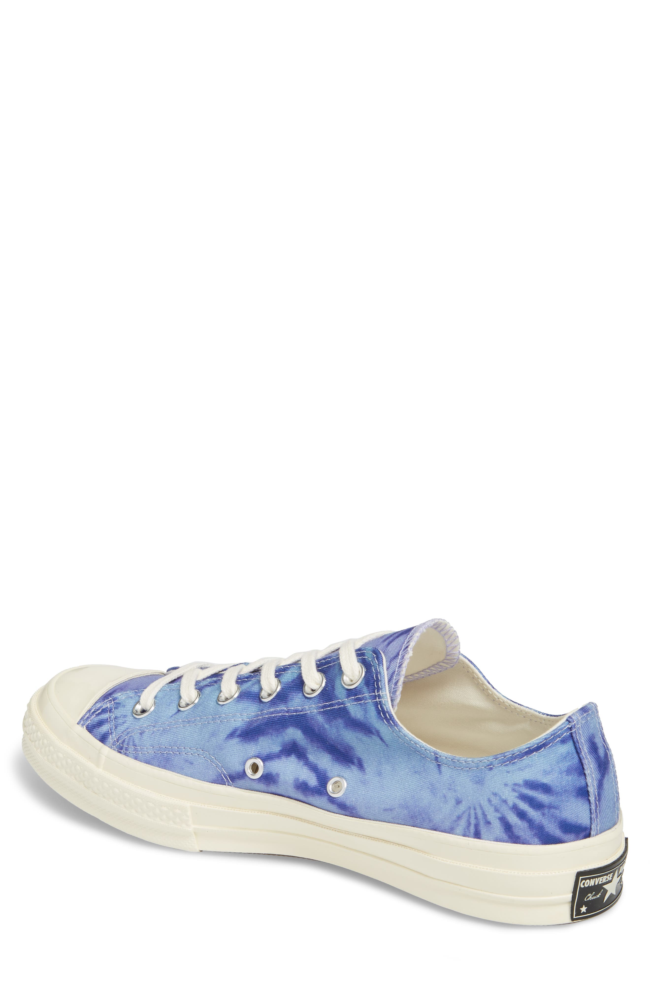 Chuck Taylor<sup>®</sup> All Star<sup>®</sup> 70 Tie Dye Low Top Sneaker,                             Alternate thumbnail 2, color,                             SHORELINE BLUE