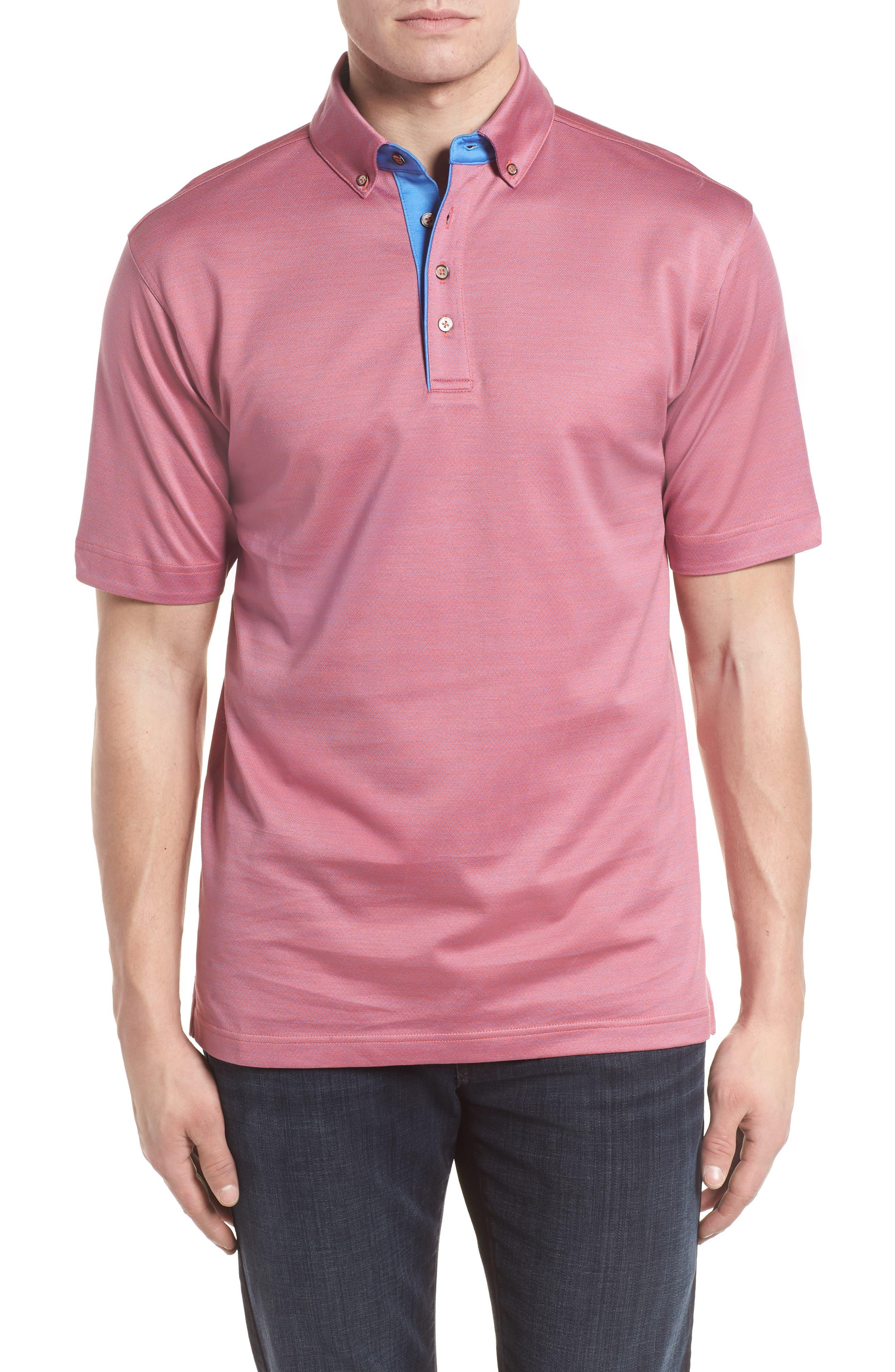 Mercerized Cotton Jacquard Polo,                             Main thumbnail 4, color,