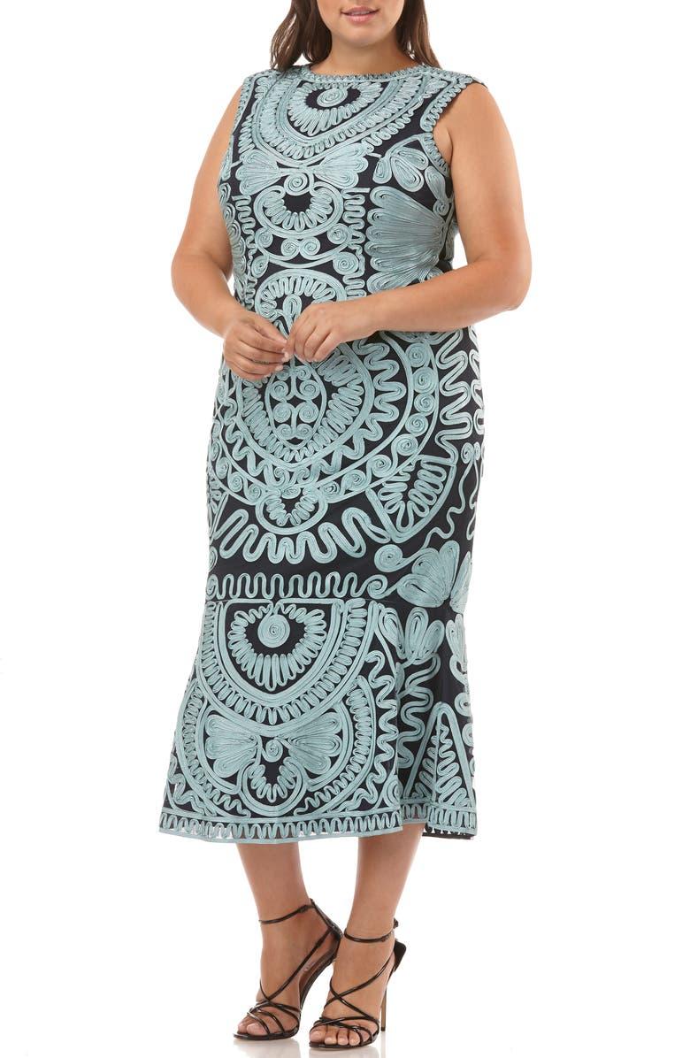 aa405d07885 JS Collections Soutache Mesh Trumpet Evening Dress (Plus Size ...