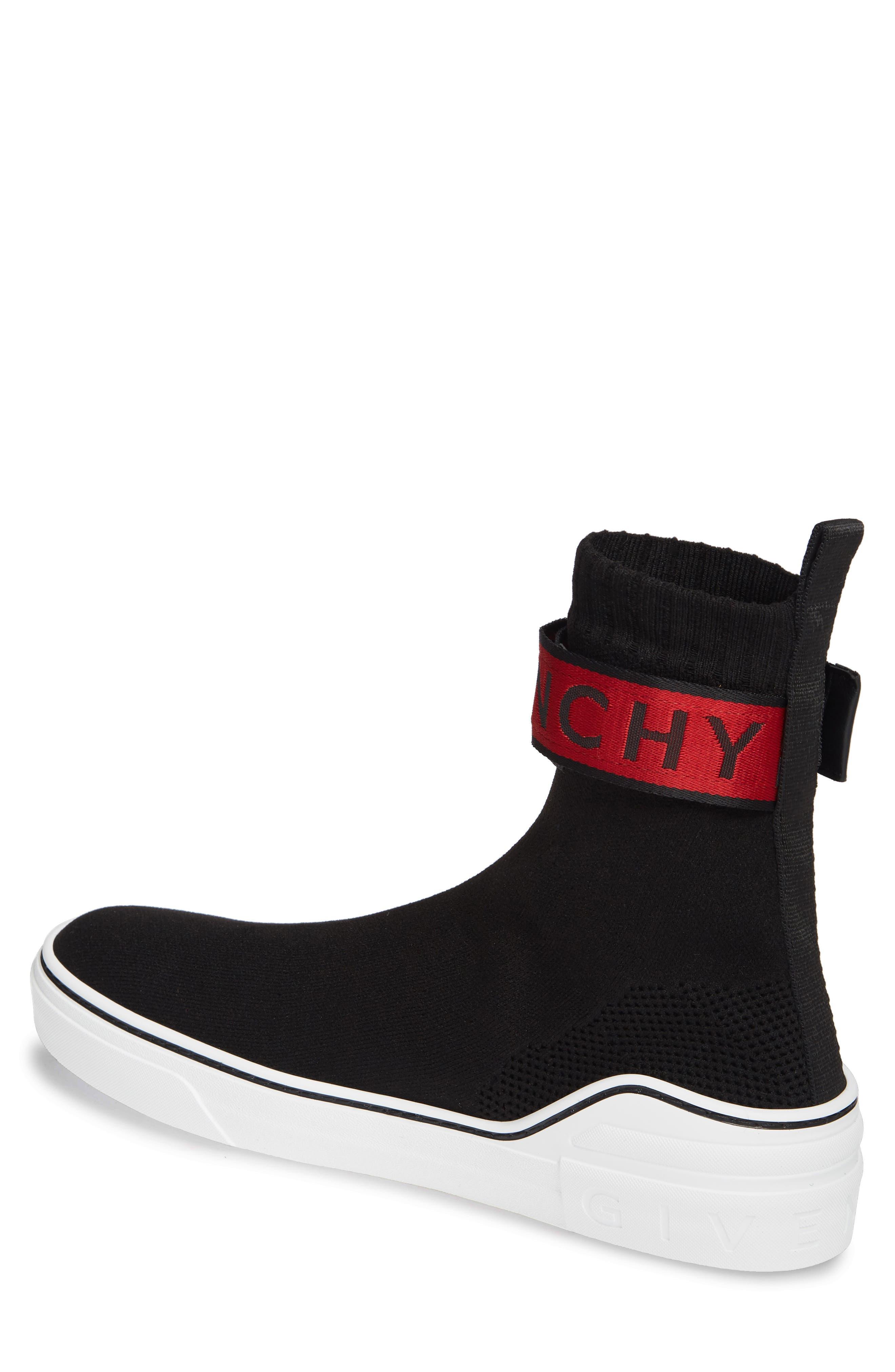 George V Sneaker,                             Alternate thumbnail 2, color,                             BLACK/ RED
