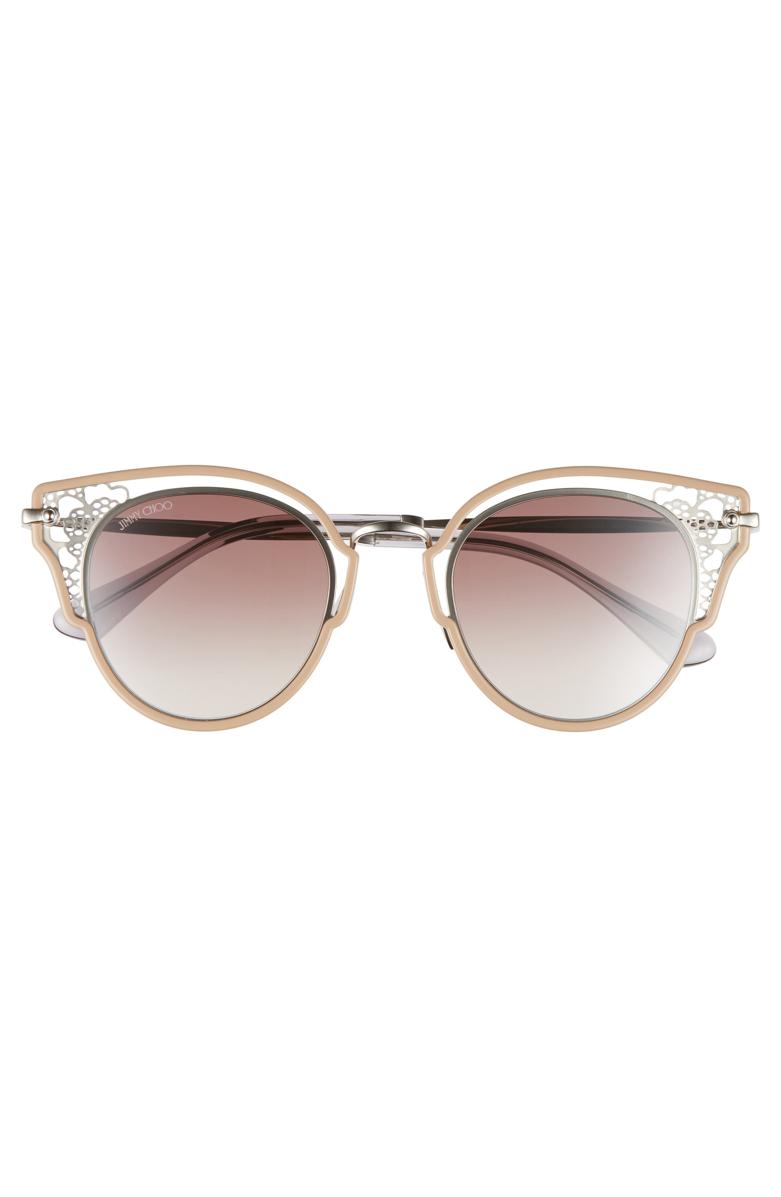 Dhelias 48mm Cat Eye Sunglasses,                             Alternate thumbnail 3, color,                             NUDE PALLADIUM