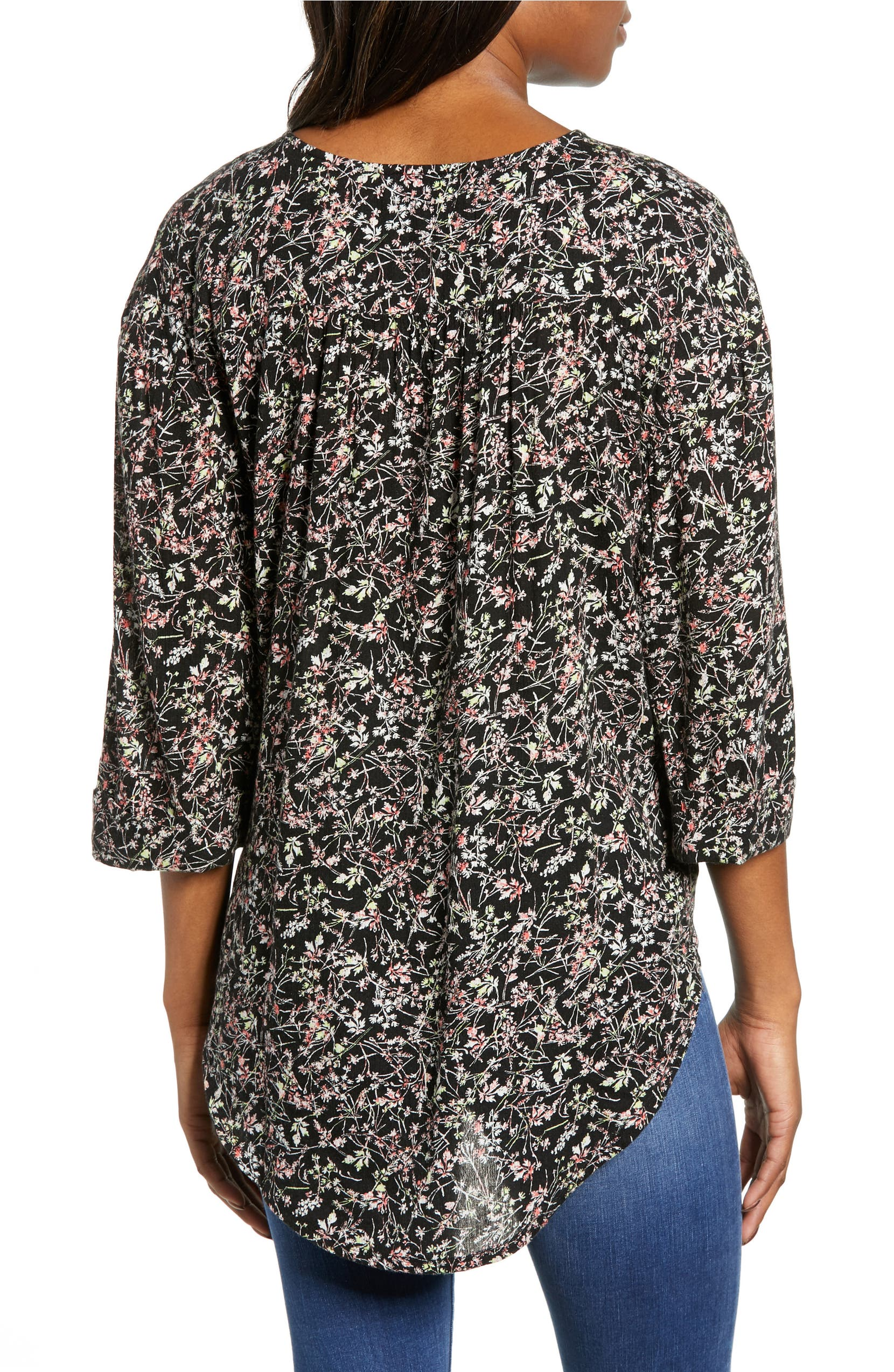 70b36a67d76 Caslon® Woven Wrap Top (Regular   Petite)