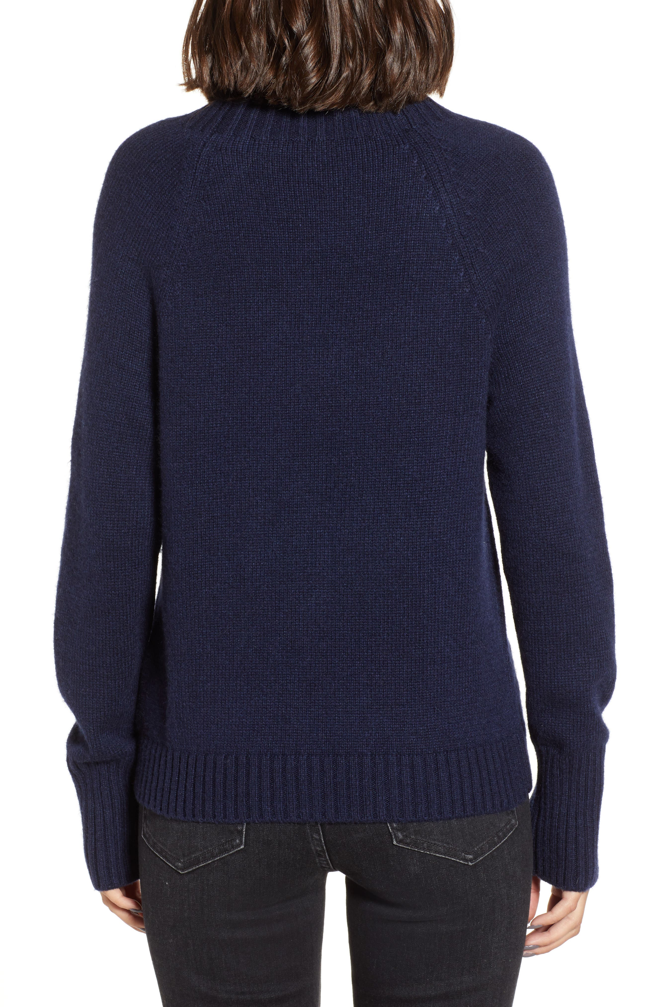 Sweater with Jeweled Buttons,                             Alternate thumbnail 2, color,                             NAVY