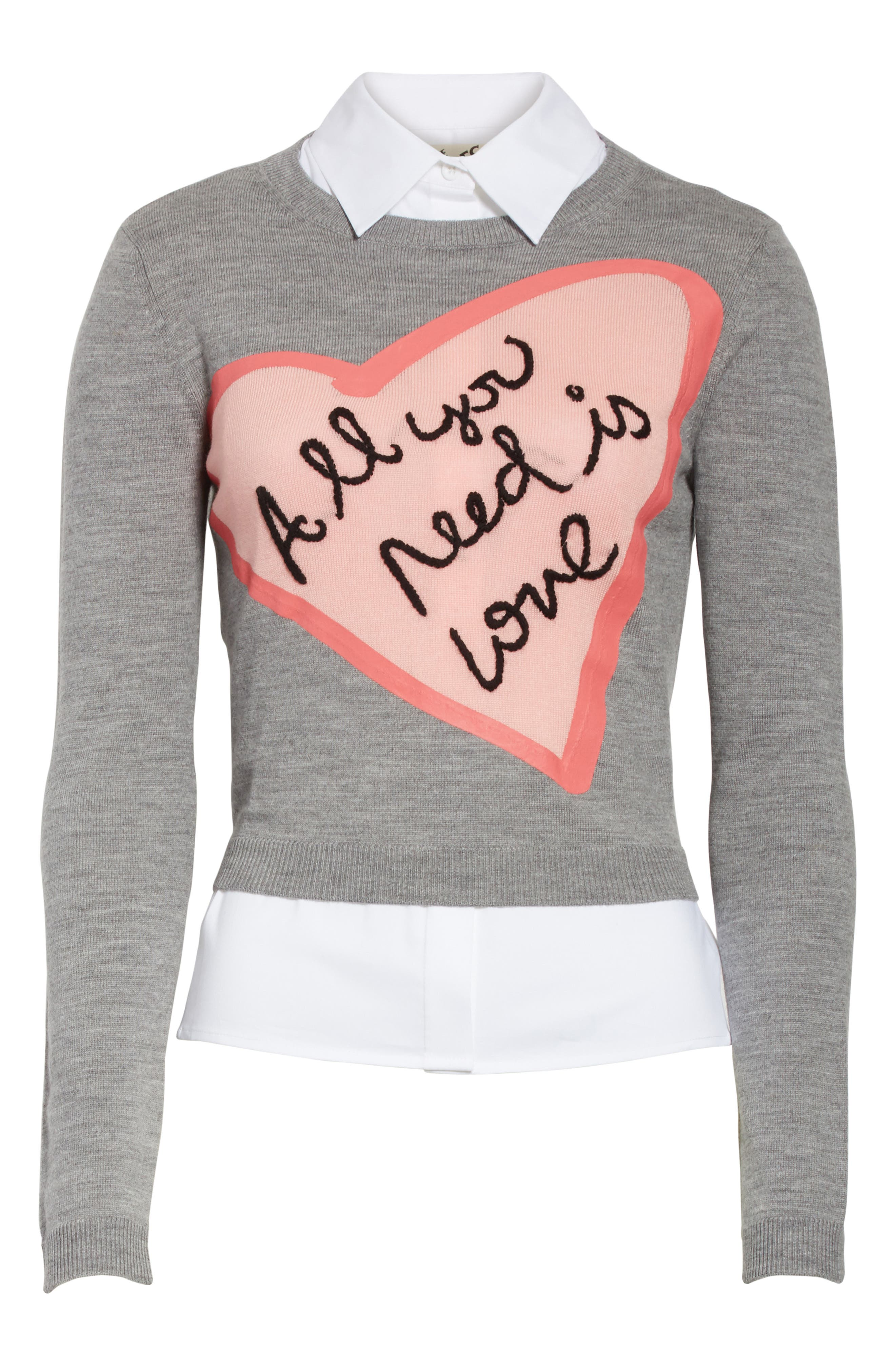 AO x The Beatles Nikia All You Need is Love Pullover,                             Alternate thumbnail 6, color,                             077