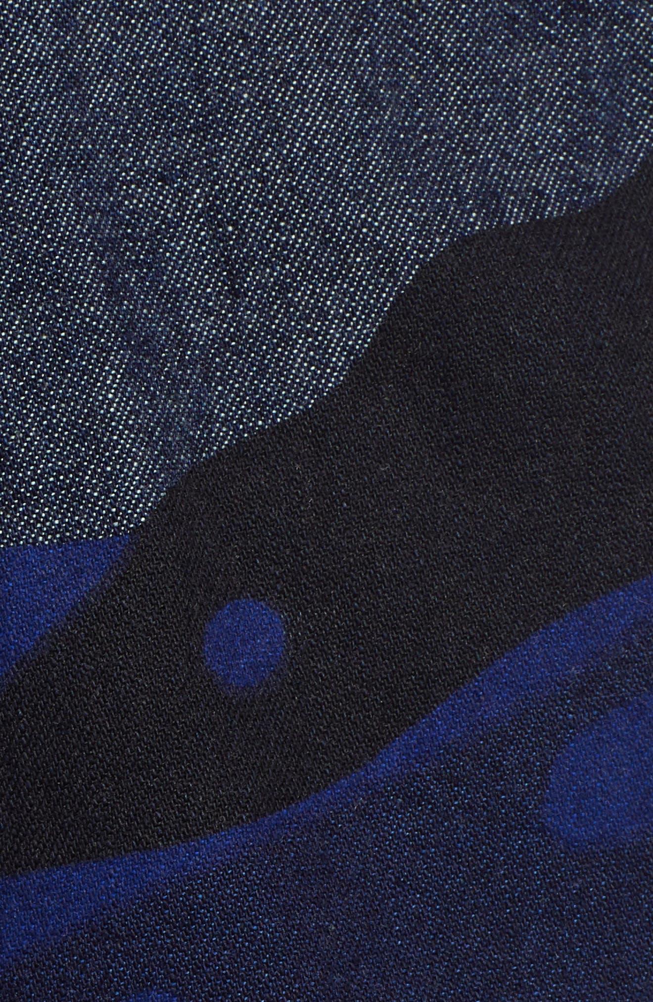 Powel Tapered Pants,                             Alternate thumbnail 5, color,                             RAW DENIM/ PHANTOM BLUE