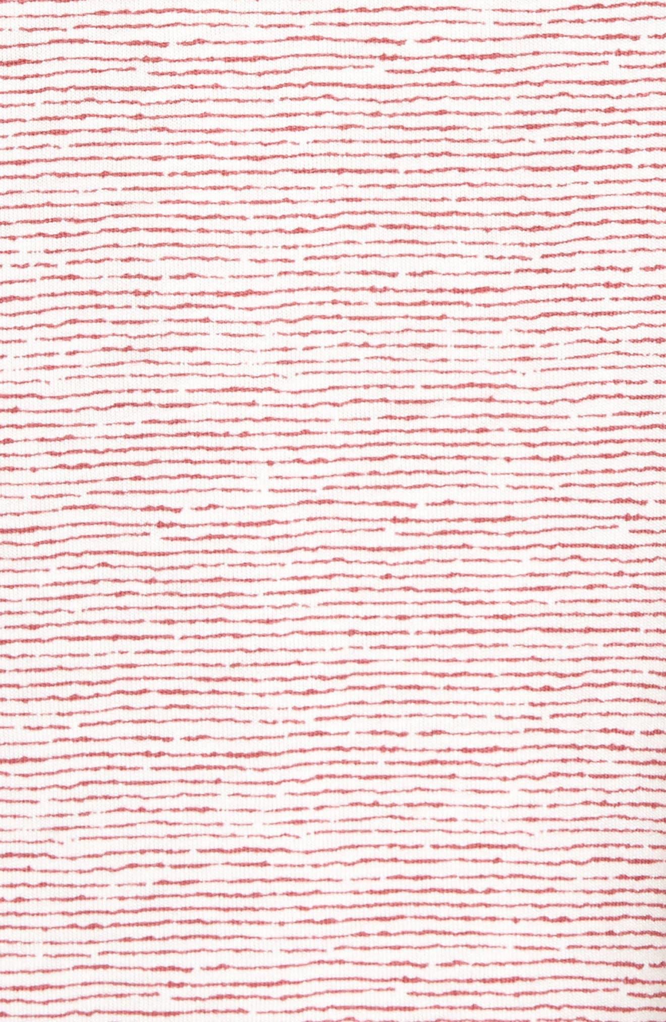Feeder Stripe Pima Cotton & Modal V-Neck T-Shirt,                             Alternate thumbnail 15, color,