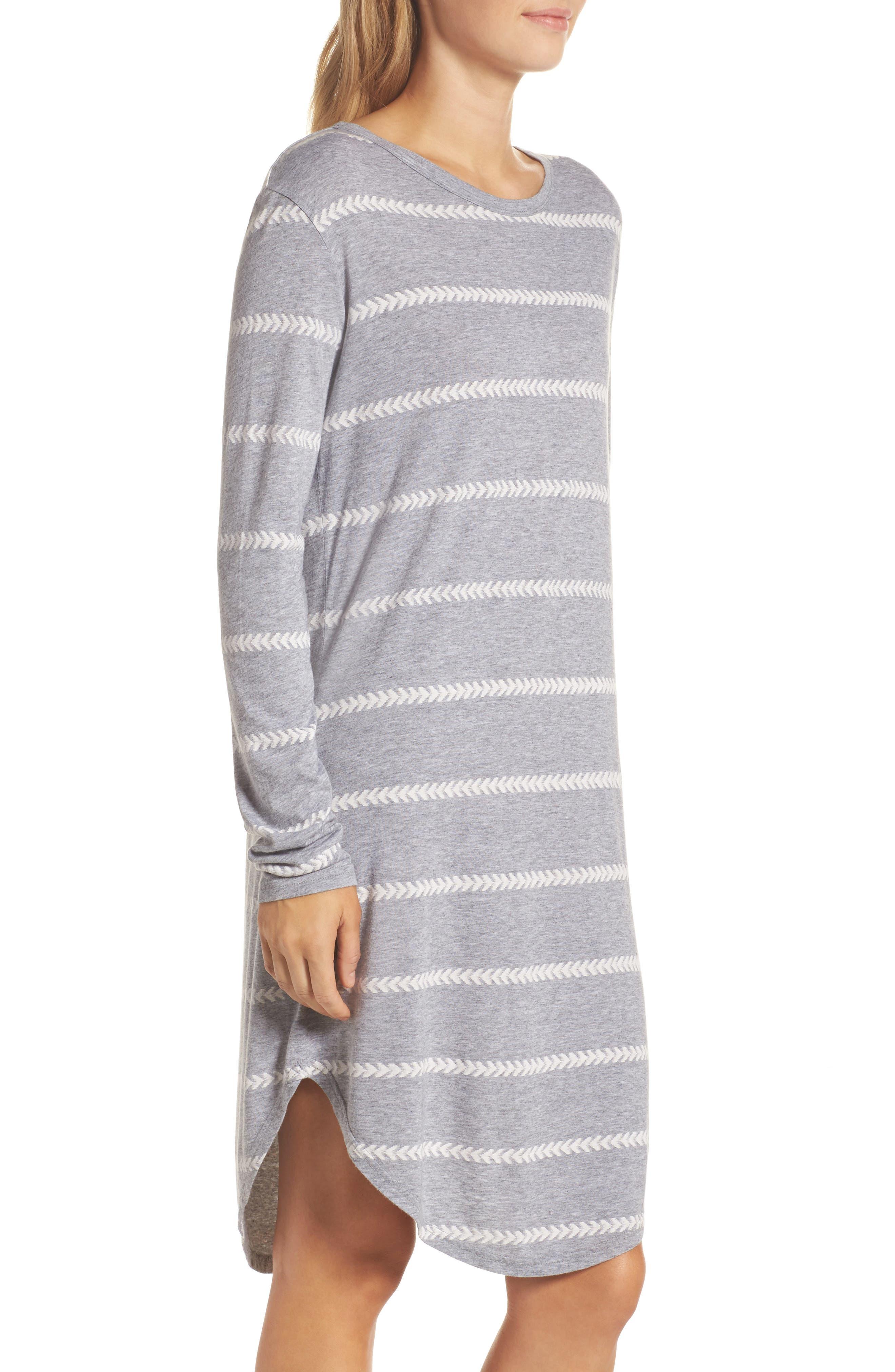 Wednesday Stripe Sleep Shirt,                             Alternate thumbnail 3, color,                             020