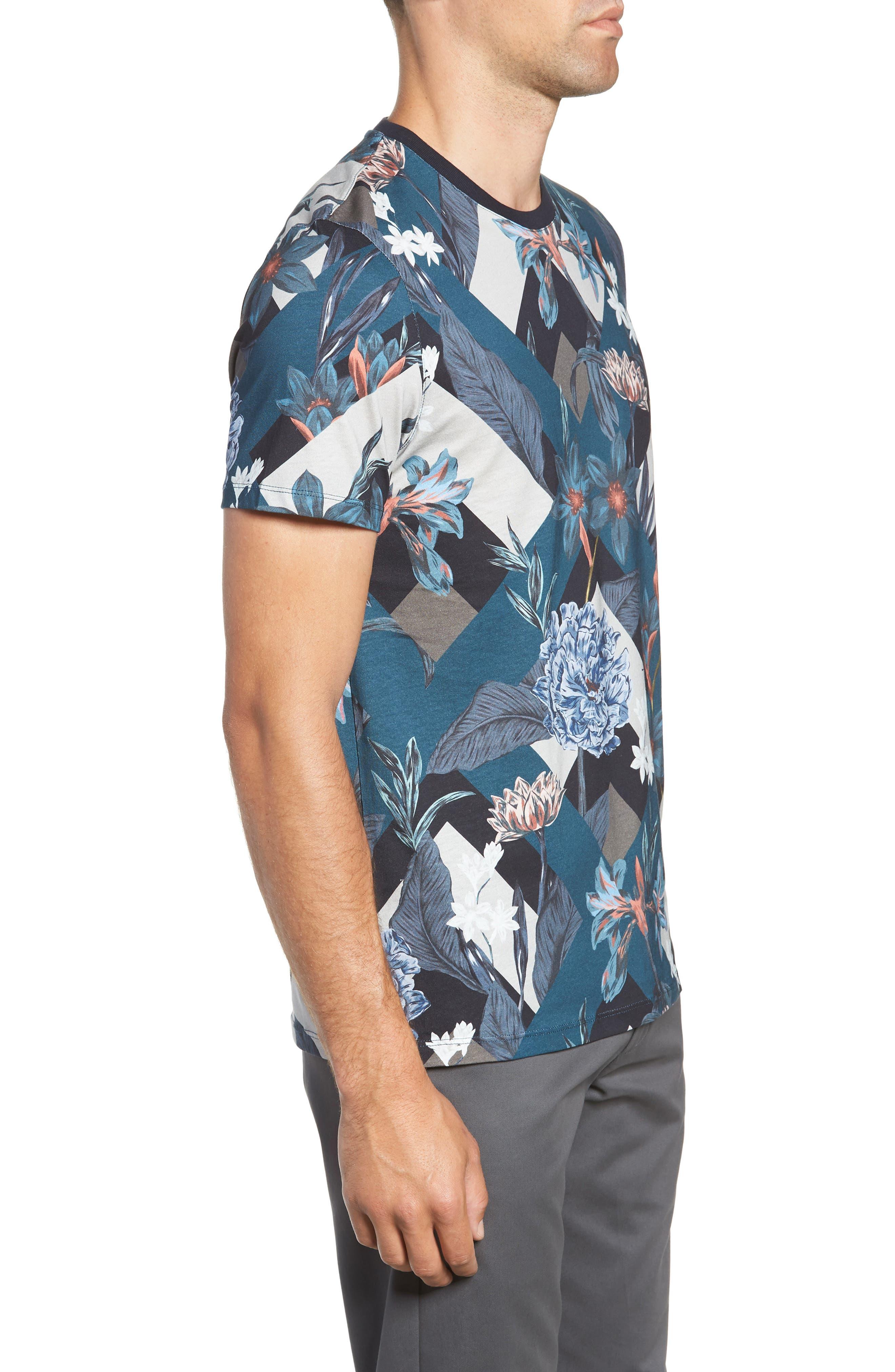 Jolly Slim Fit T-Shirt,                             Alternate thumbnail 3, color,                             NAVY