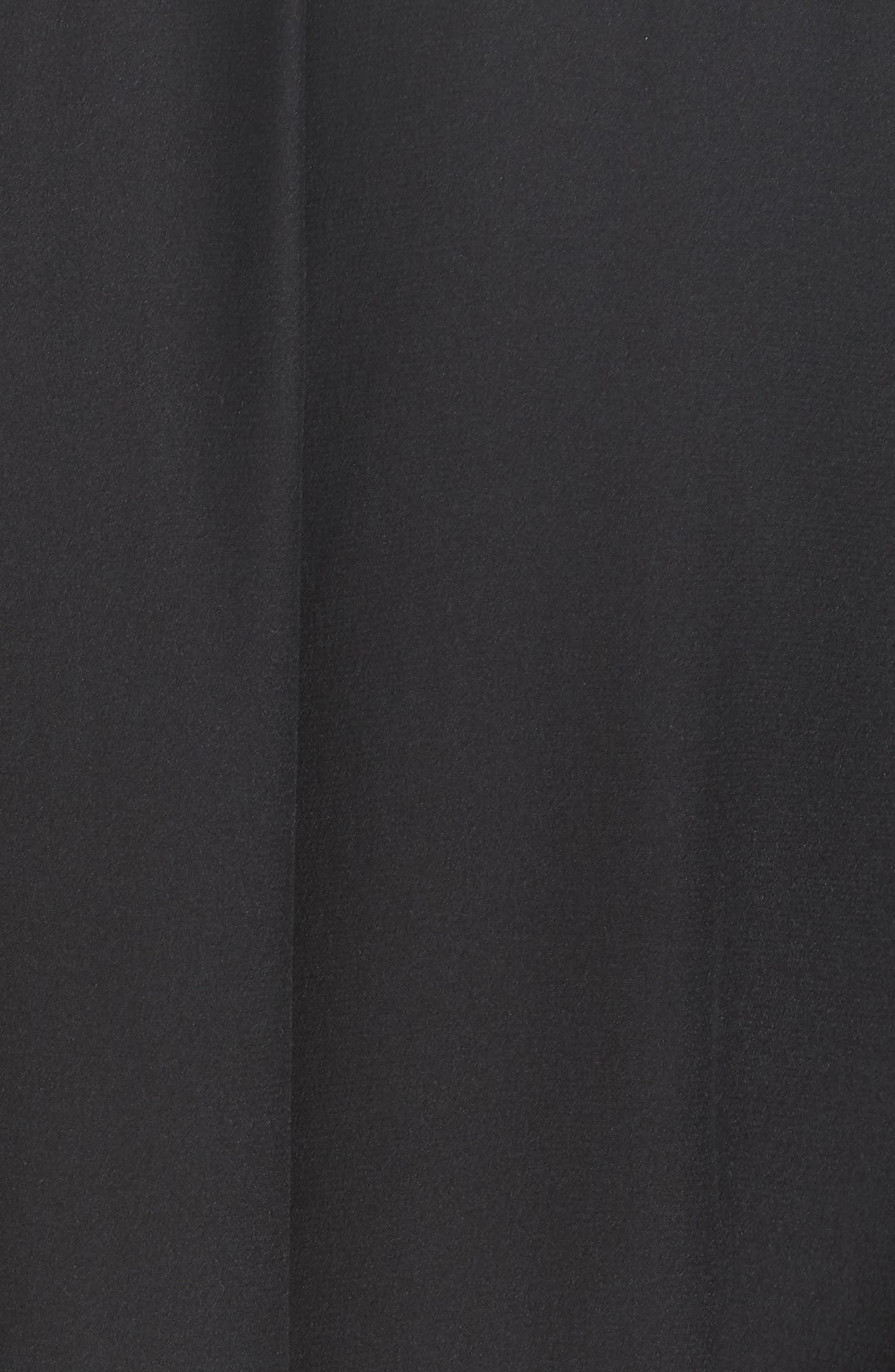 Lina Embroidered Silk Wrap Blouse,                             Alternate thumbnail 5, color,                             BLACK