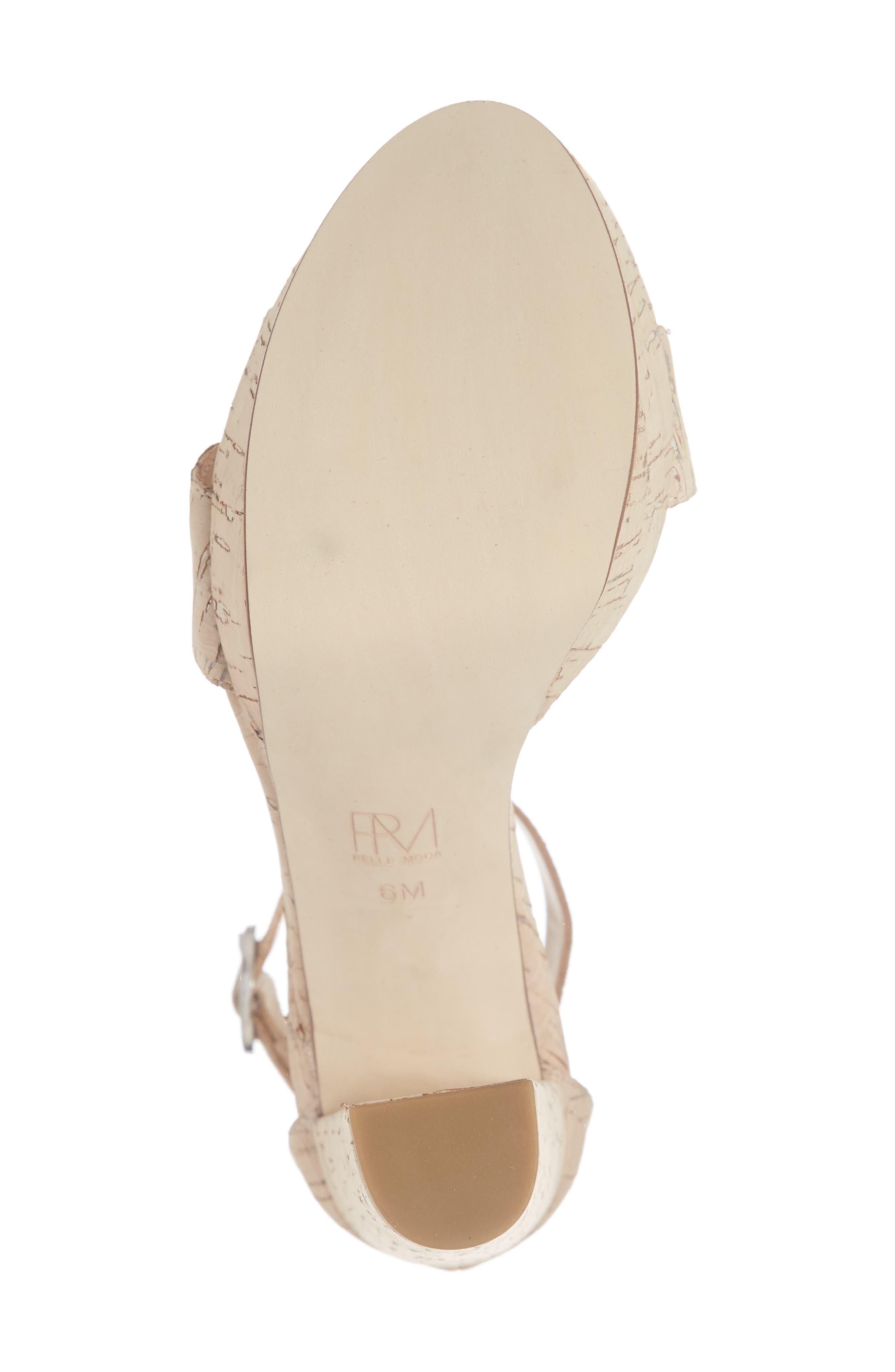 PELLE MODA,                             Palo 2 Platform Sandal,                             Alternate thumbnail 6, color,                             WHITE WASHED CORK