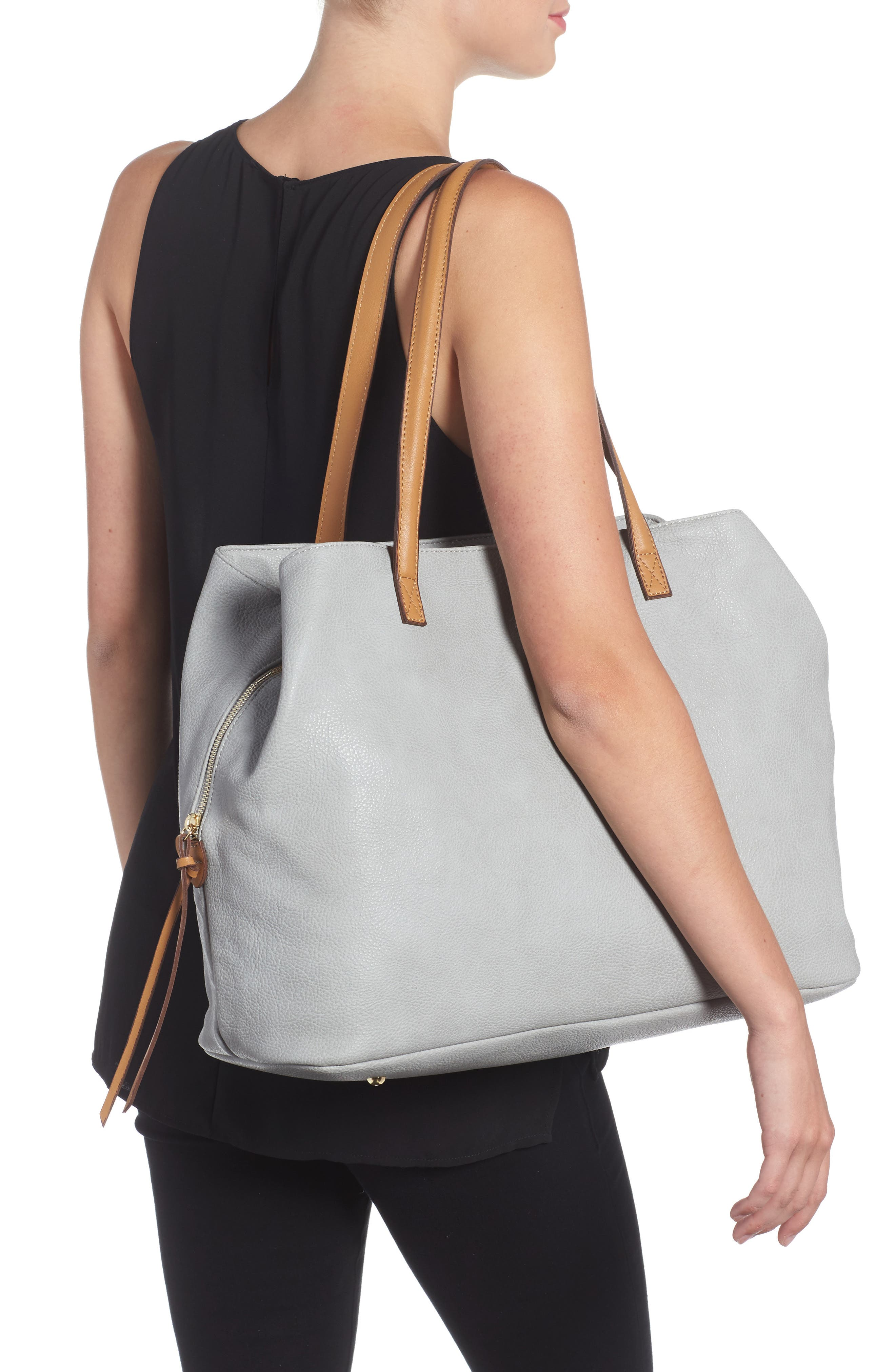 Millar Faux Leather Tote,                             Alternate thumbnail 2, color,                             020