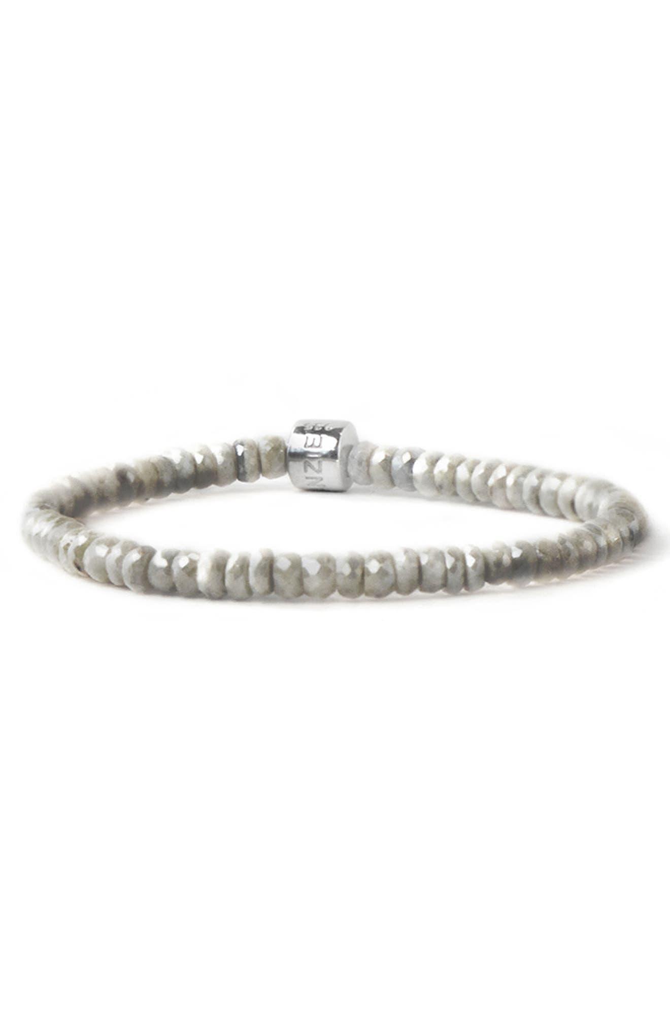 Boheme Grey Silverite Bracelet,                             Main thumbnail 1, color,                             SILVER/ GREY