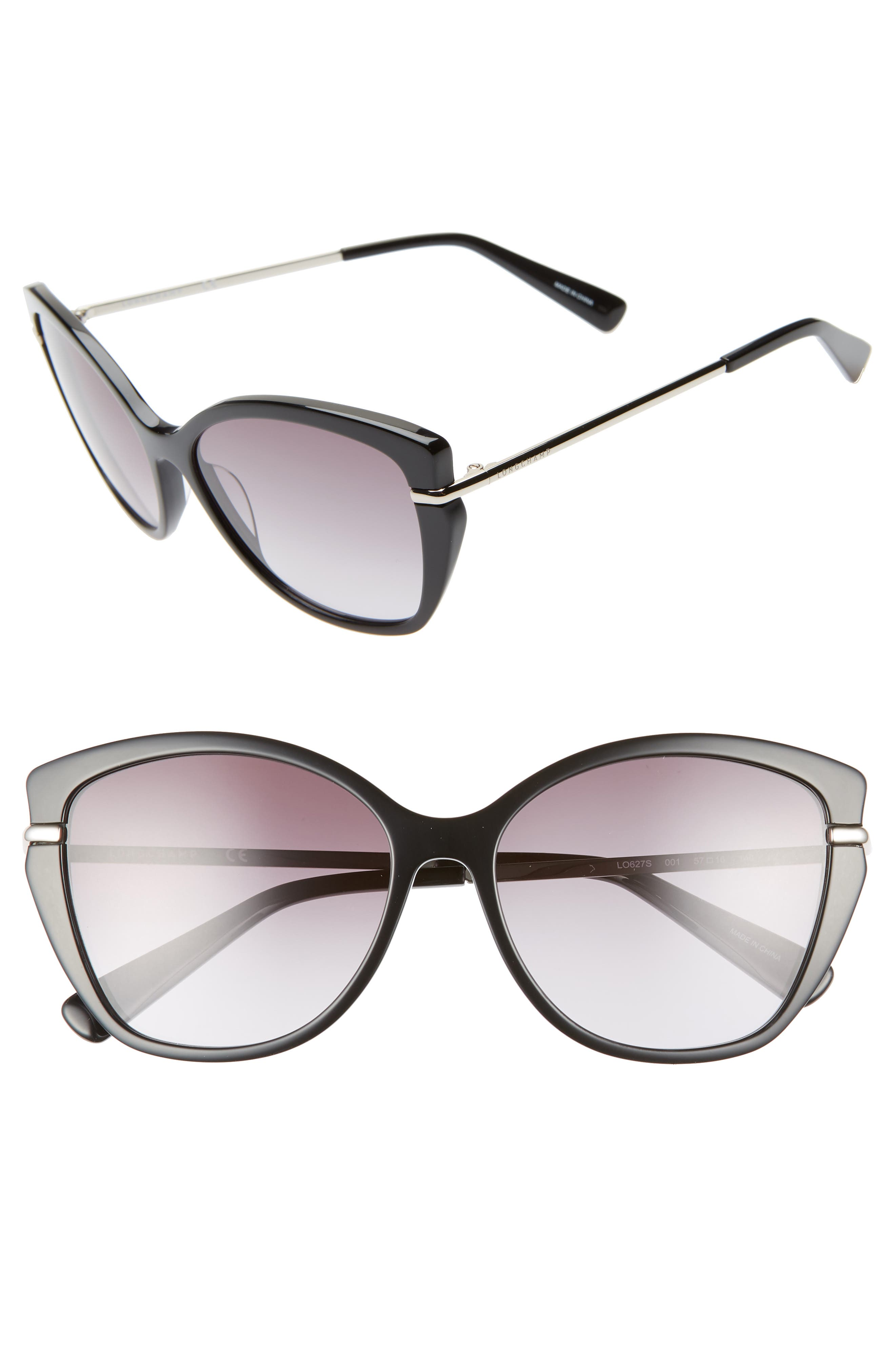 Heritage 57Mm Butterfly Sunglasses - Black