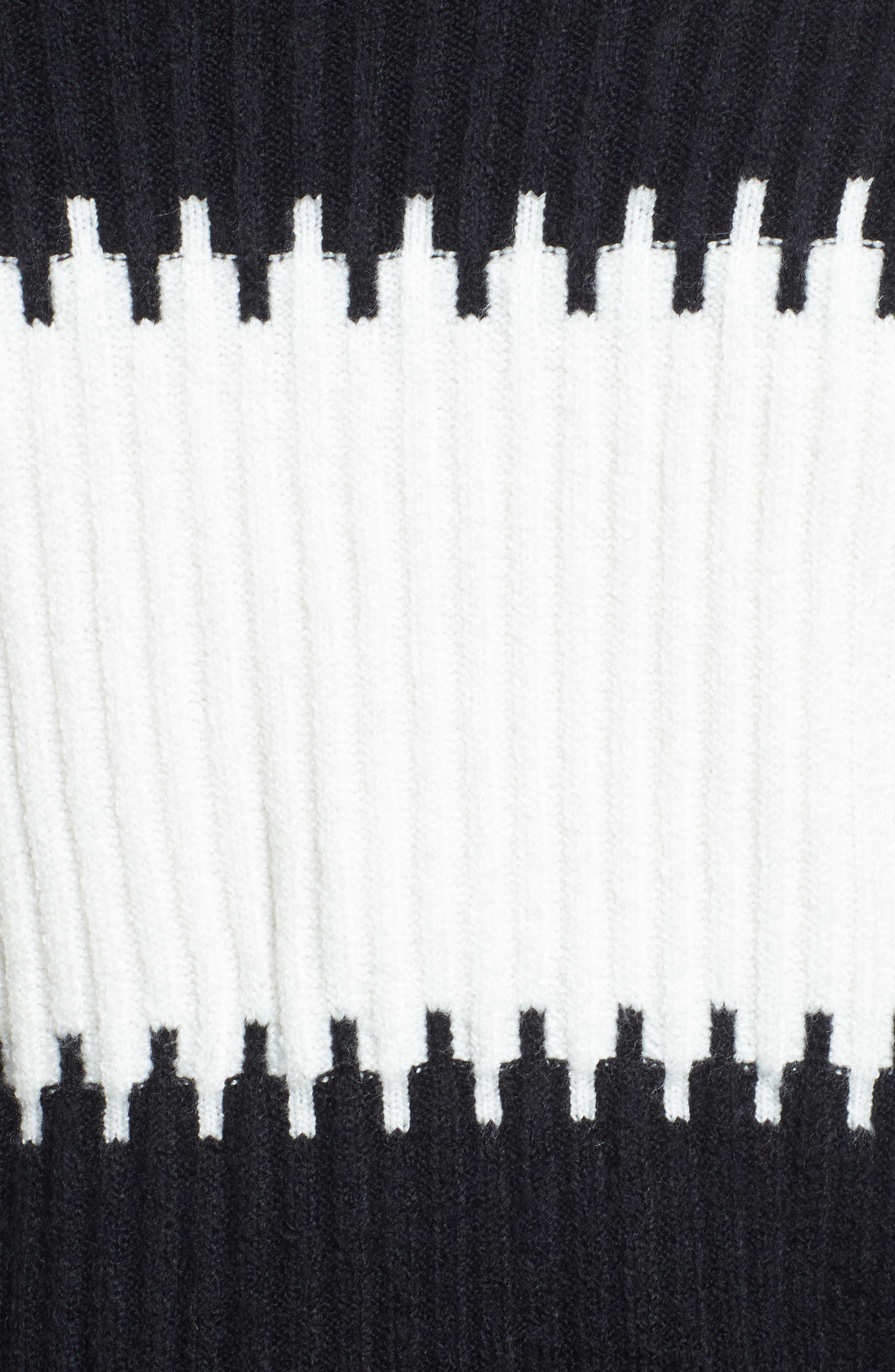 Sofia Puff Sleeve Sweater,                             Alternate thumbnail 5, color,                             001