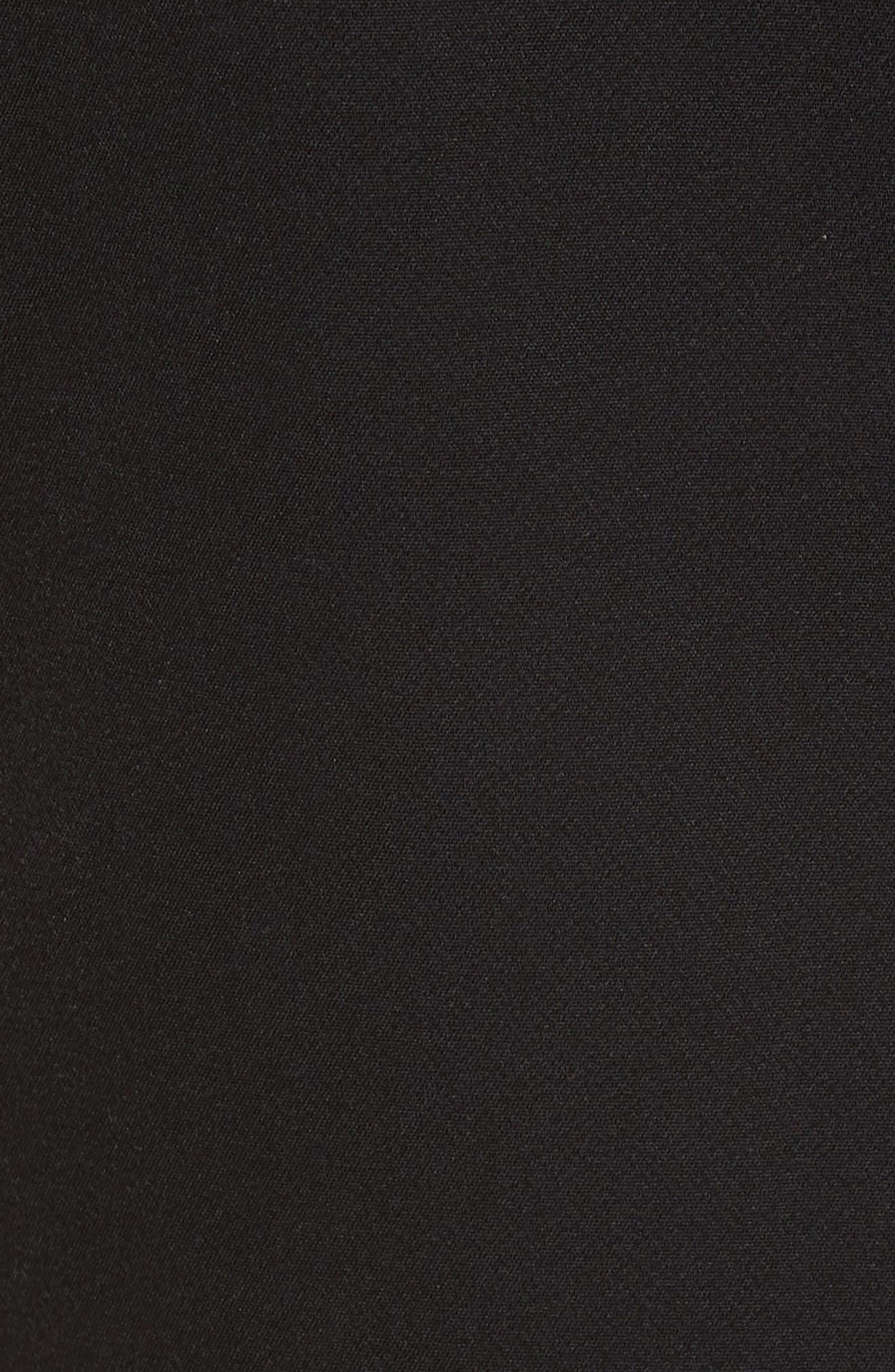 Flare Hem Dress,                             Alternate thumbnail 5, color,                             001