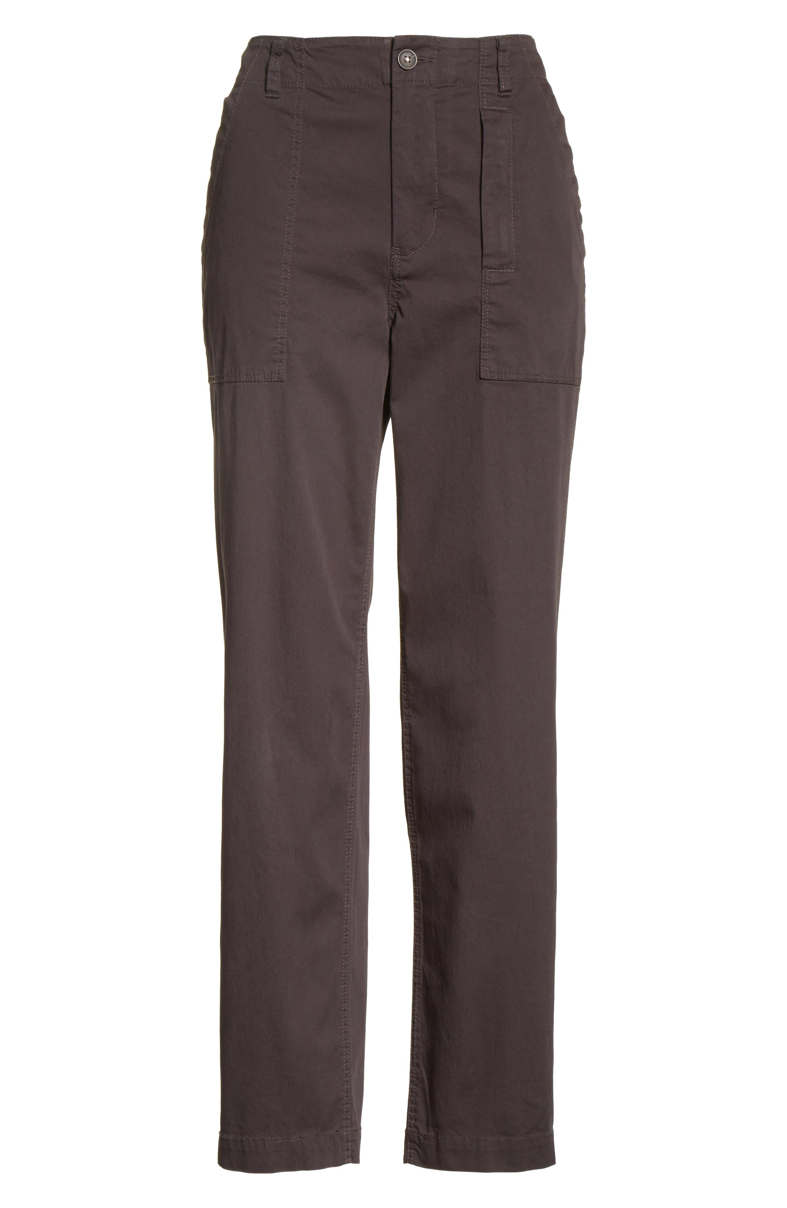 Florian High Waist Pants,                             Alternate thumbnail 6, color,                             065
