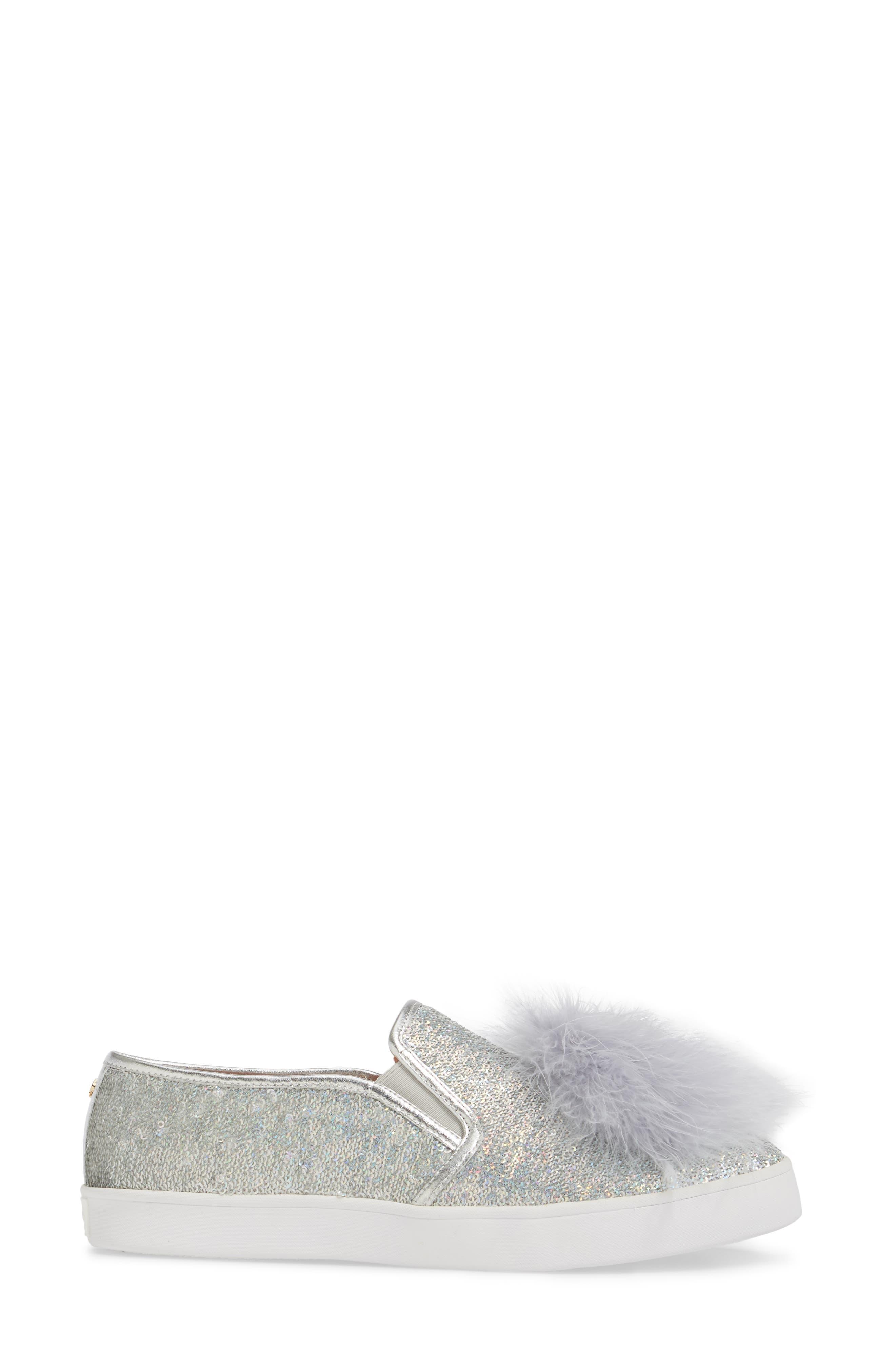 sequin slip-on sneaker,                             Alternate thumbnail 5, color,