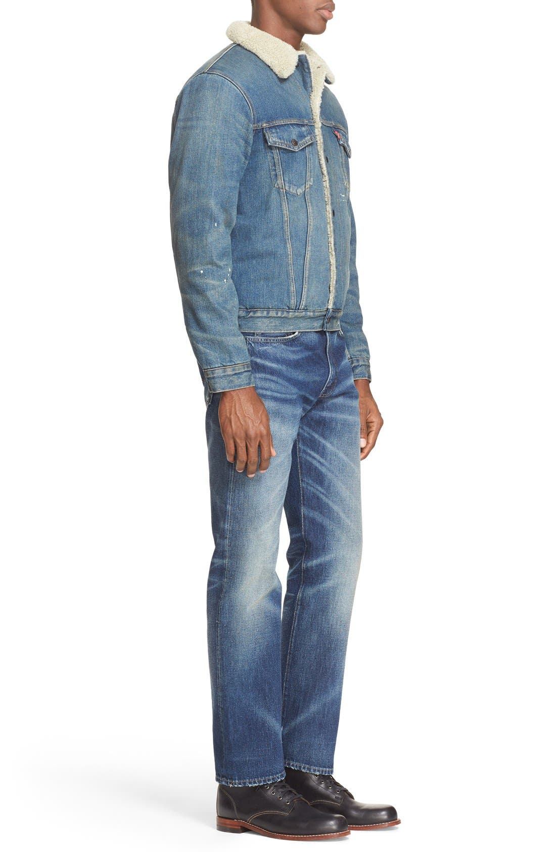 '1967 Type III' Denim Jacket with Faux Fur Collar,                             Alternate thumbnail 4, color,                             400