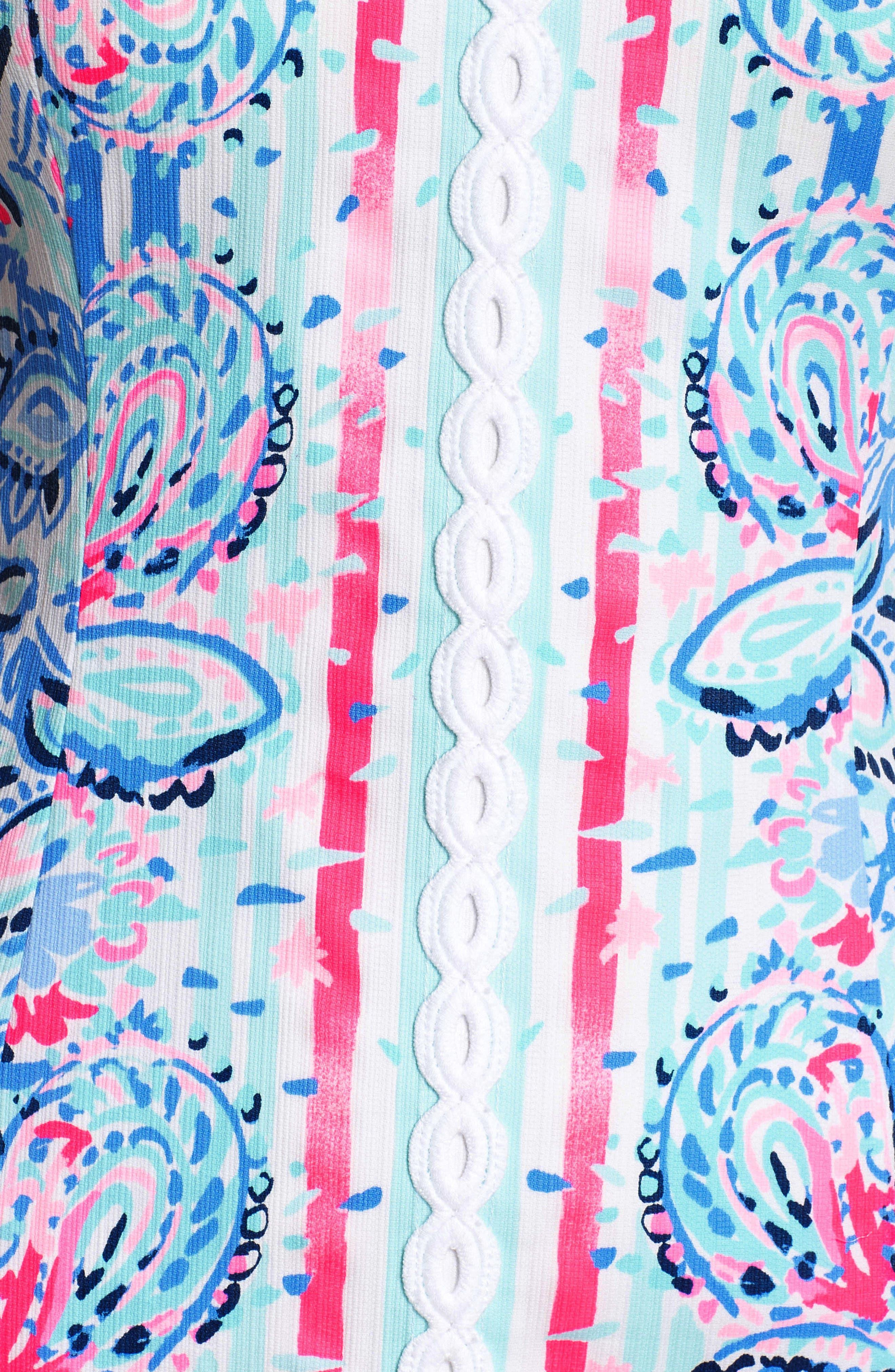 Shelli Stretch Minidress,                             Alternate thumbnail 6, color,                             RESORT WHITE STRIPES AND STR