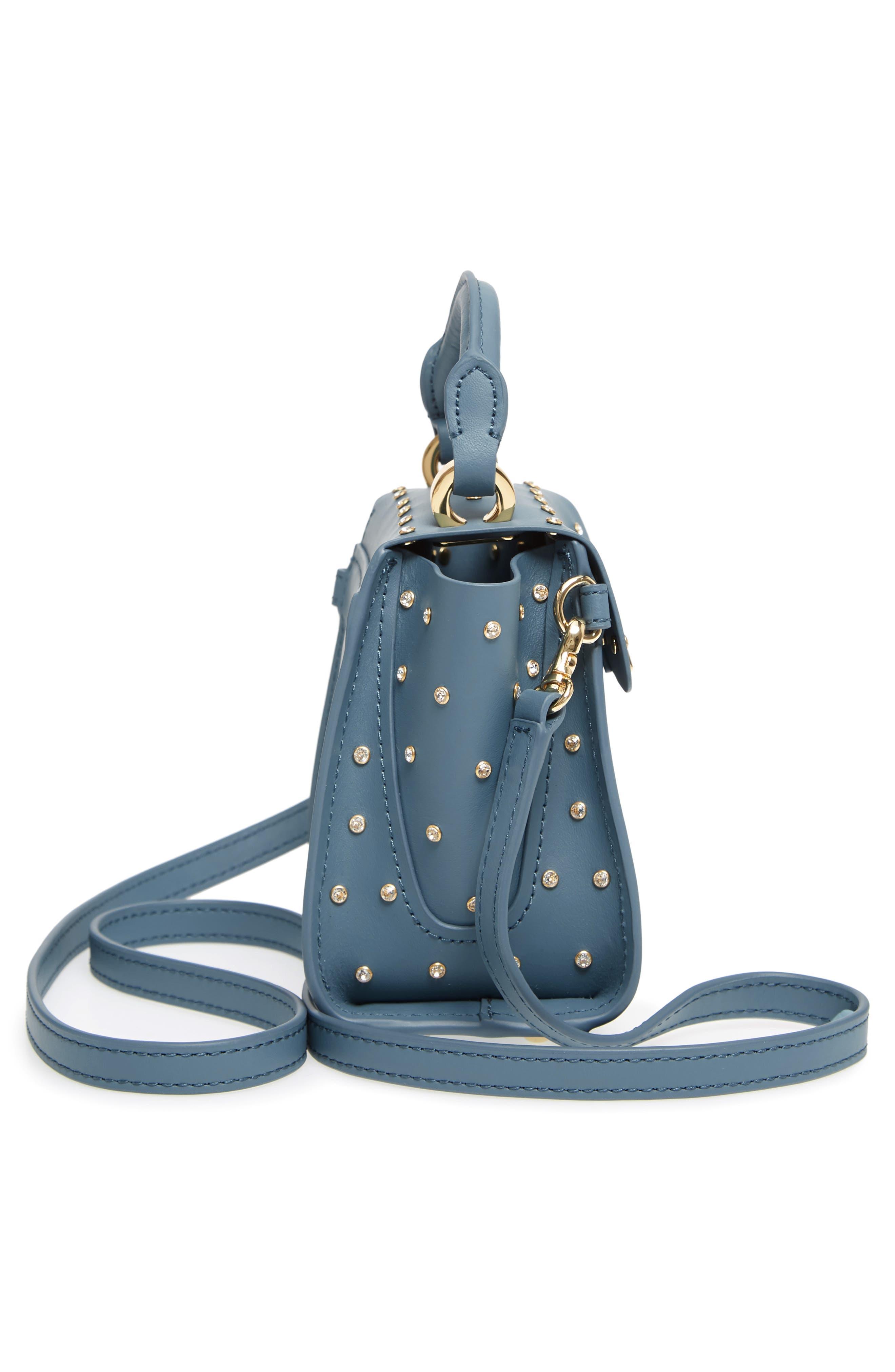 Mini Eartha Crystal Top Handle Bag,                             Alternate thumbnail 5, color,                             420