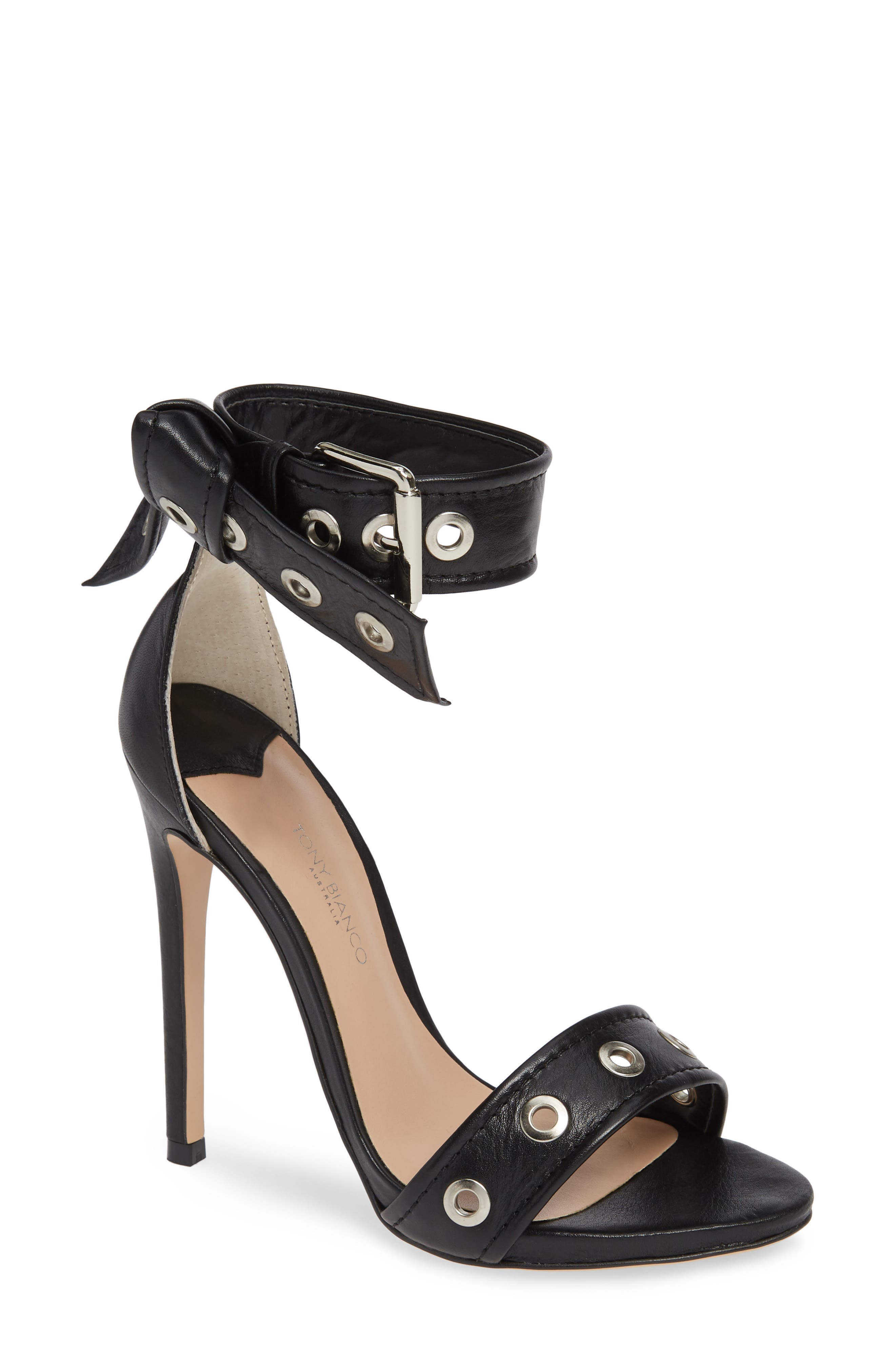 Acadia Sandal,                         Main,                         color, BLACK LUXE LEATHER