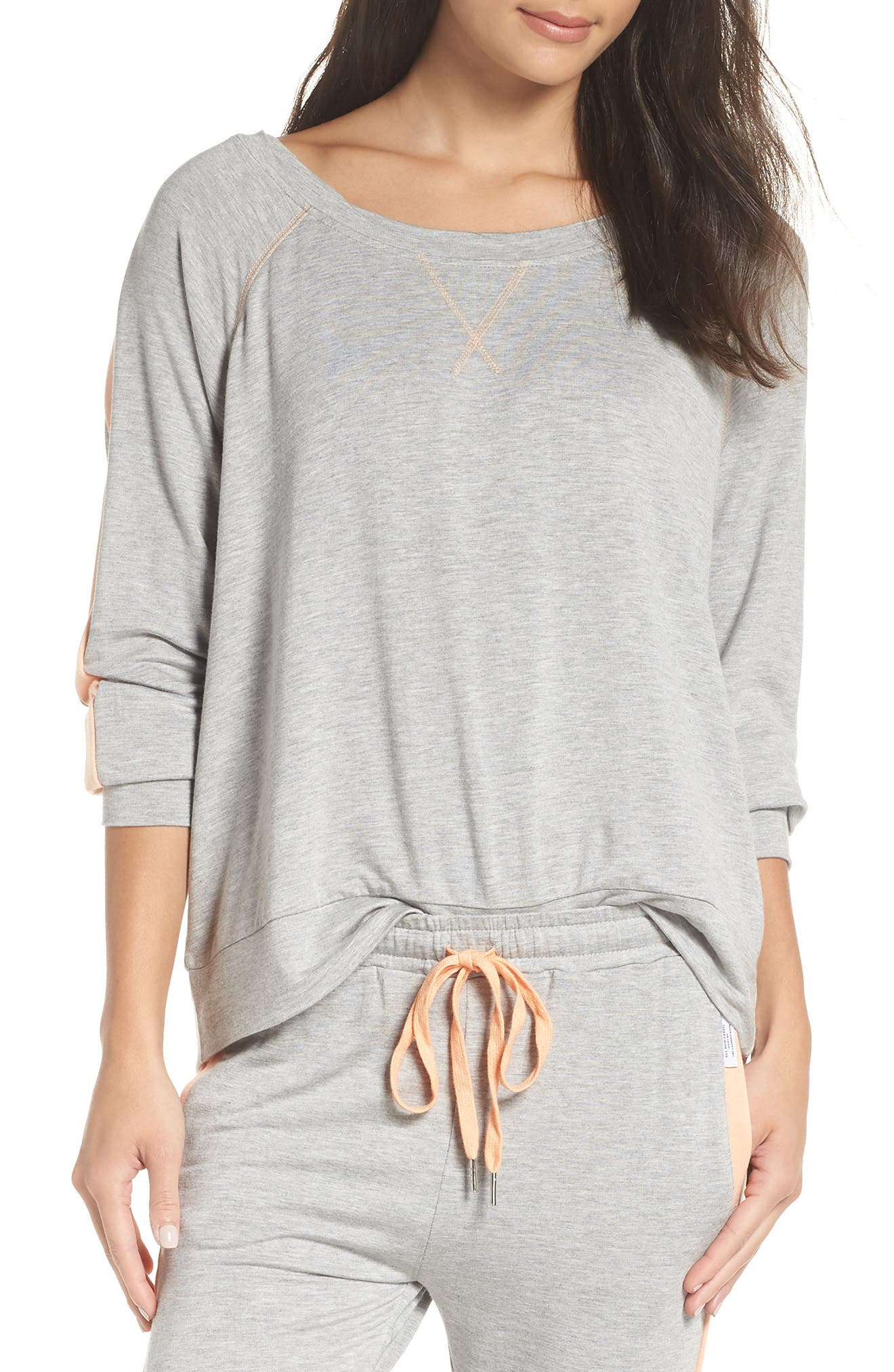 THE LAUNDRY ROOM Elevens Sweatshirt in Heather / Peach