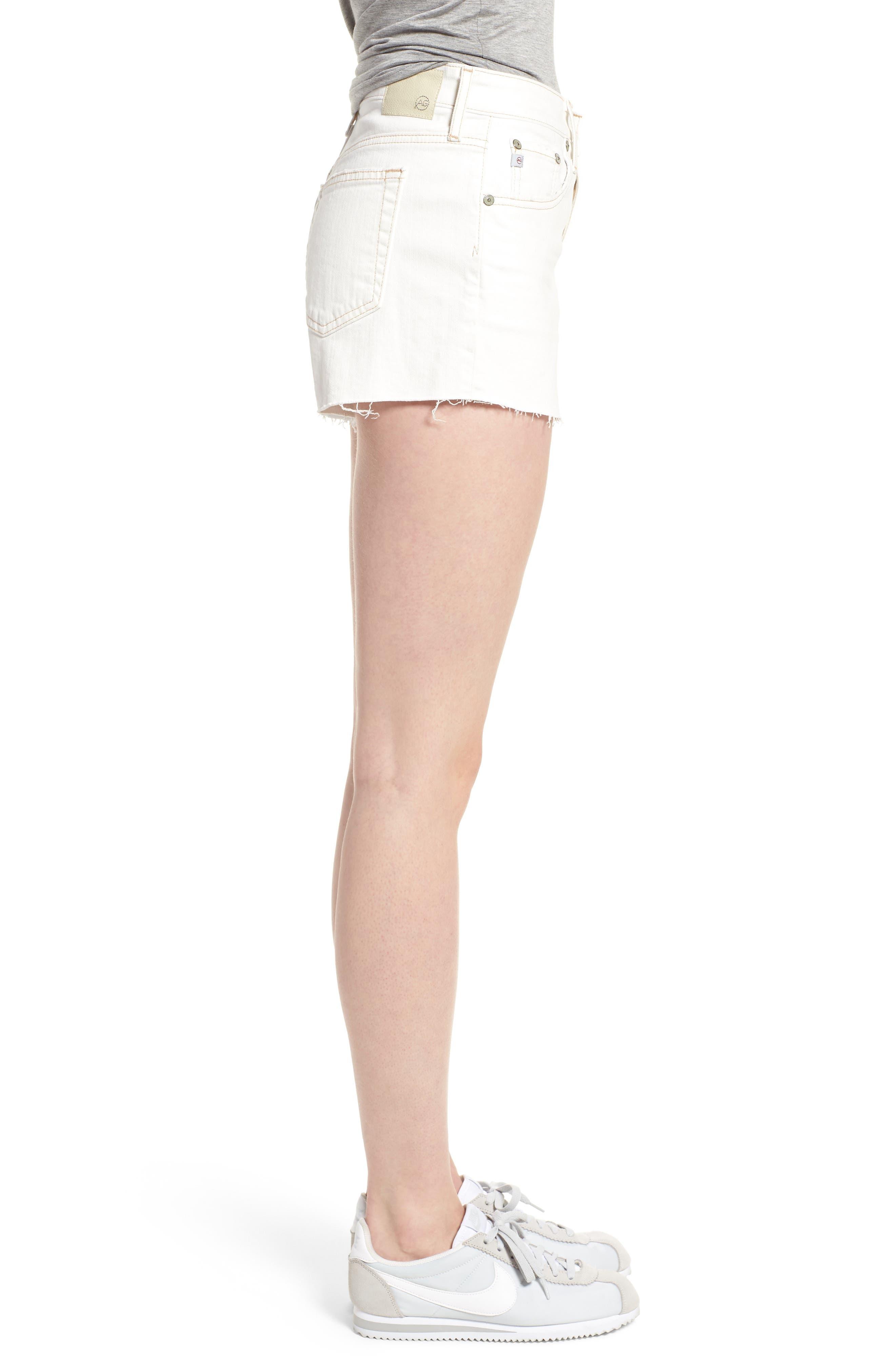 The Bryn High Waist Cutoff Denim Shorts,                             Alternate thumbnail 3, color,                             109