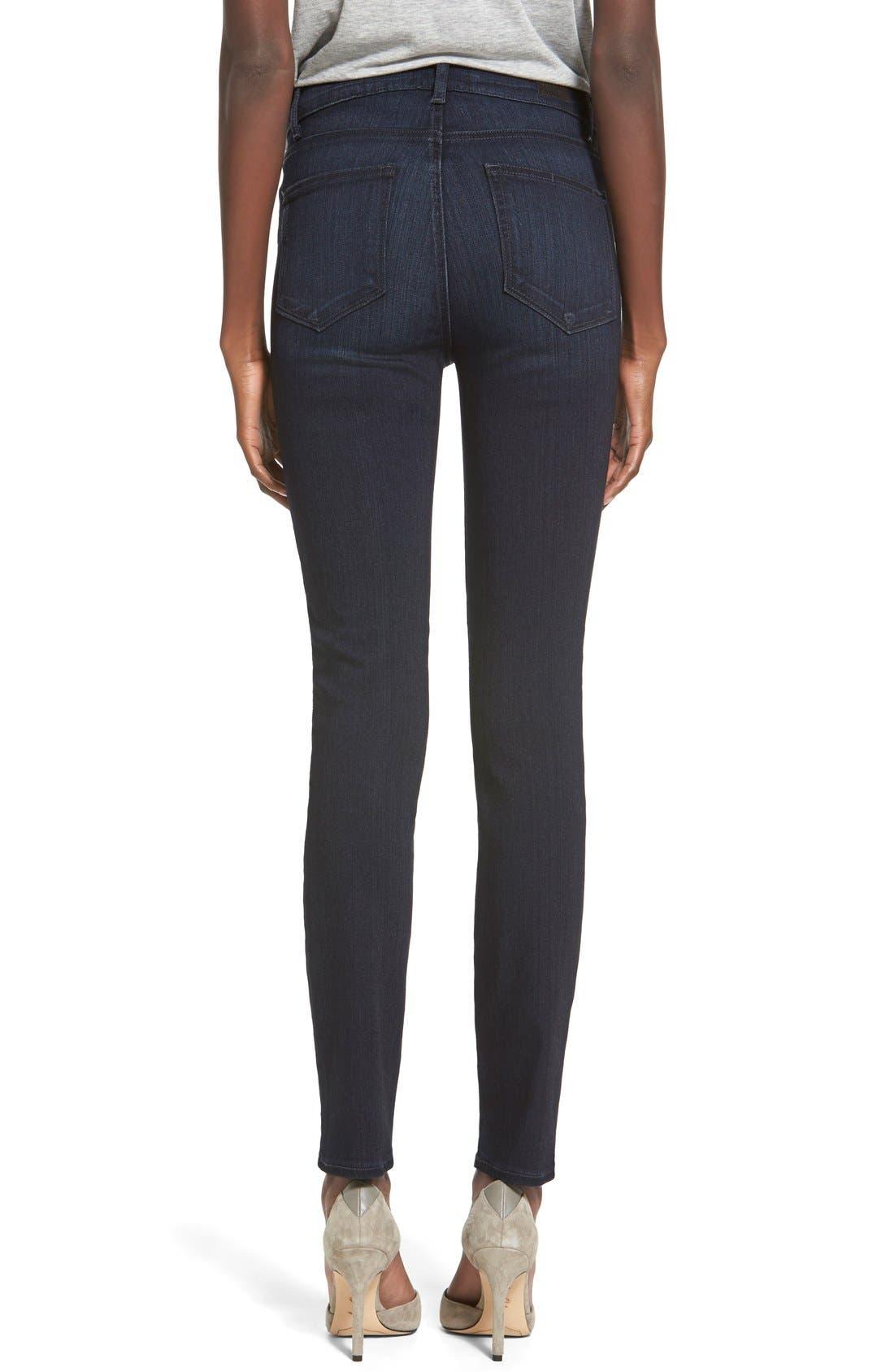 Denim 'Transcend - Hoxton' High Rise Ankle Skinny Jeans,                             Alternate thumbnail 3, color,                             400