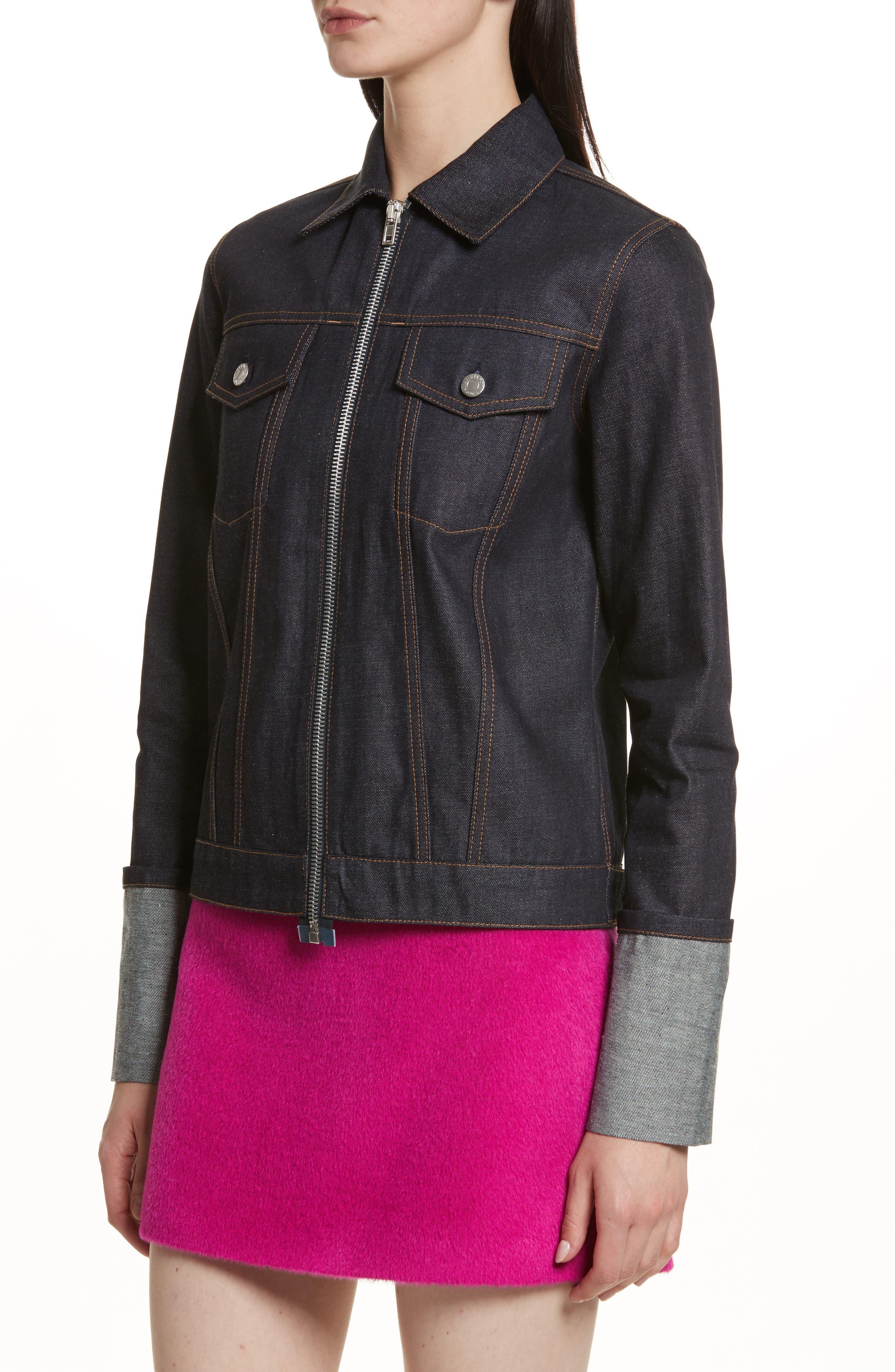 Re-Edition Zip Denim Jacket,                             Alternate thumbnail 4, color,                             401