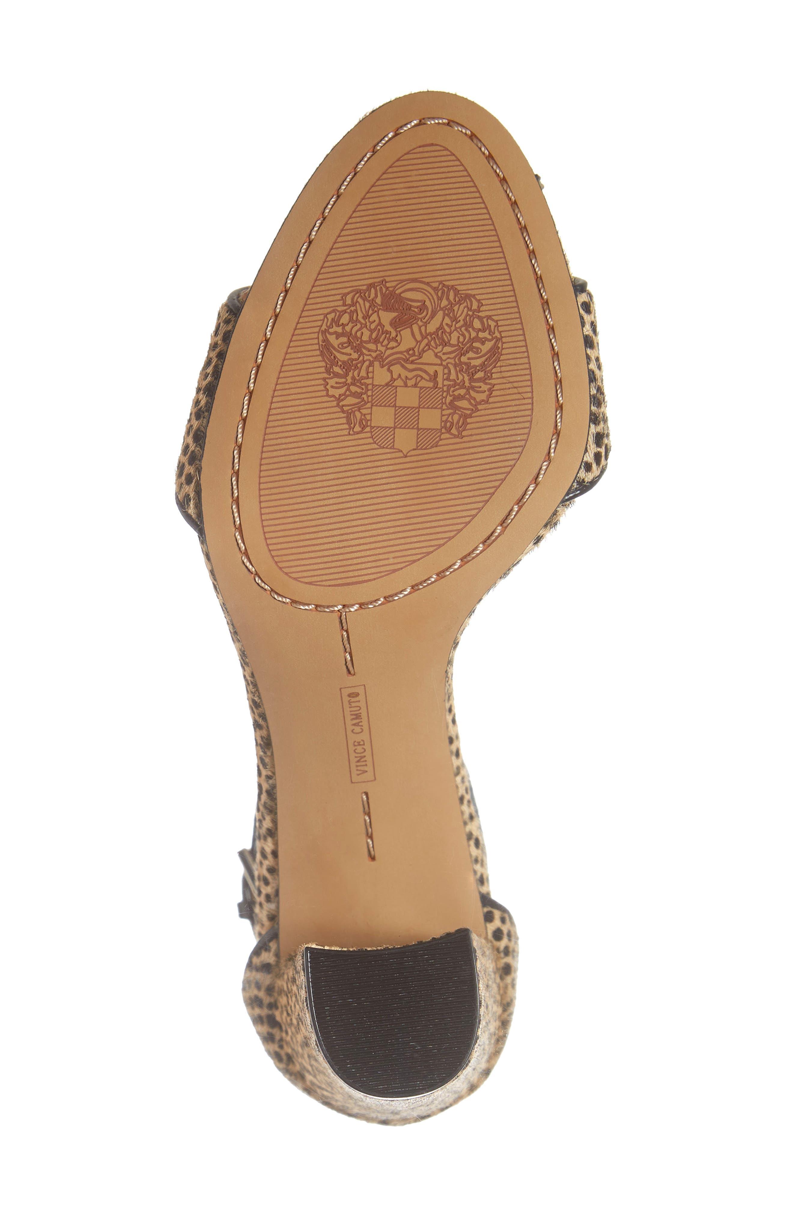 Corlina Genuine Calf Hair Ankle Strap Sandal,                             Alternate thumbnail 6, color,                             NATURAL SPOTTED CALF HAIR
