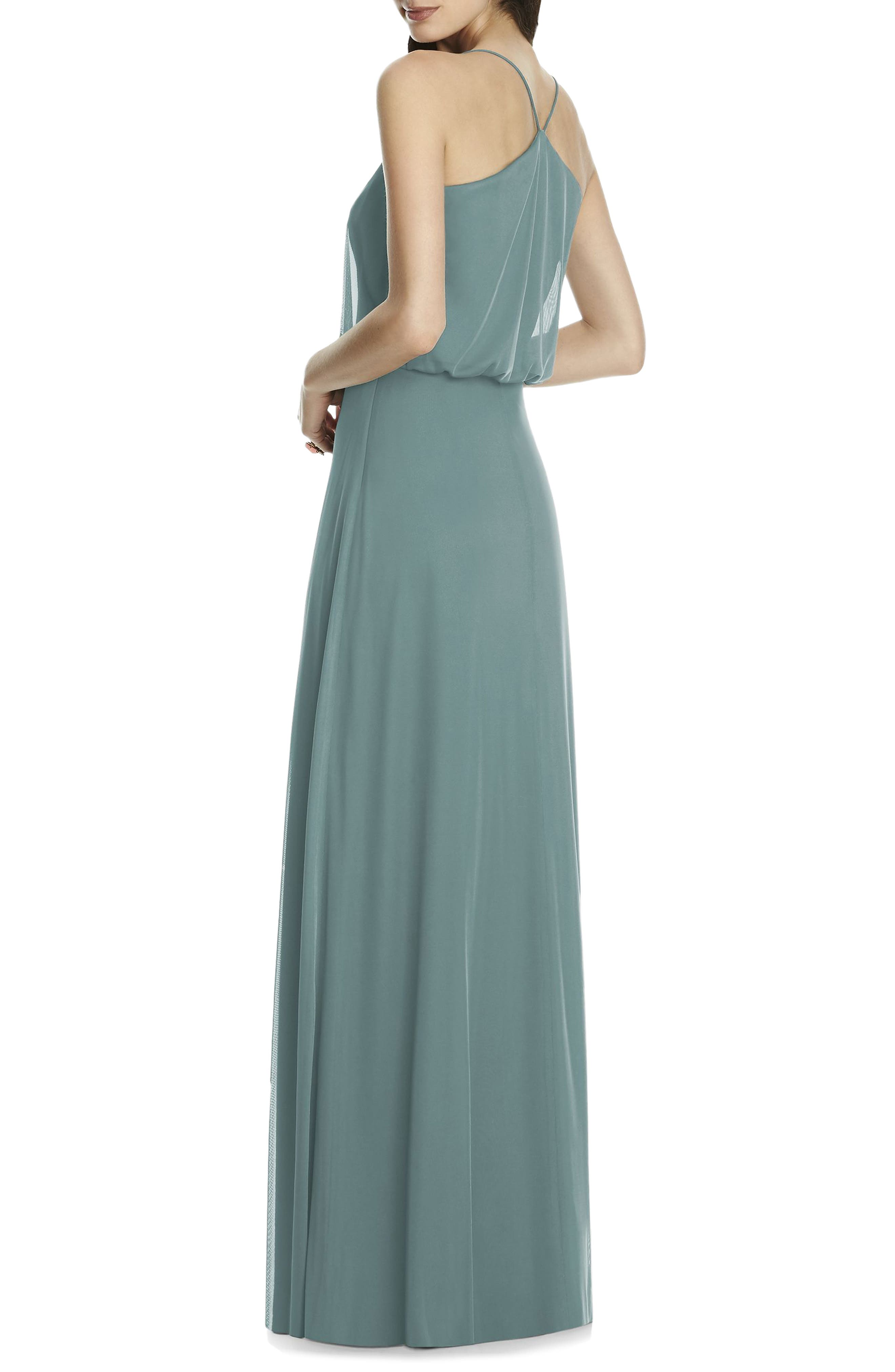 Chiffon Blouson Gown,                             Alternate thumbnail 7, color,