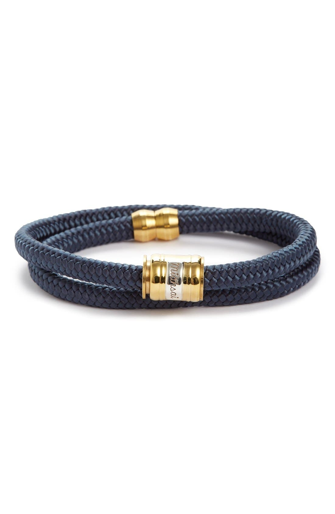 MIANSAI Casing Brass Rope Bracelet in Solid Navy