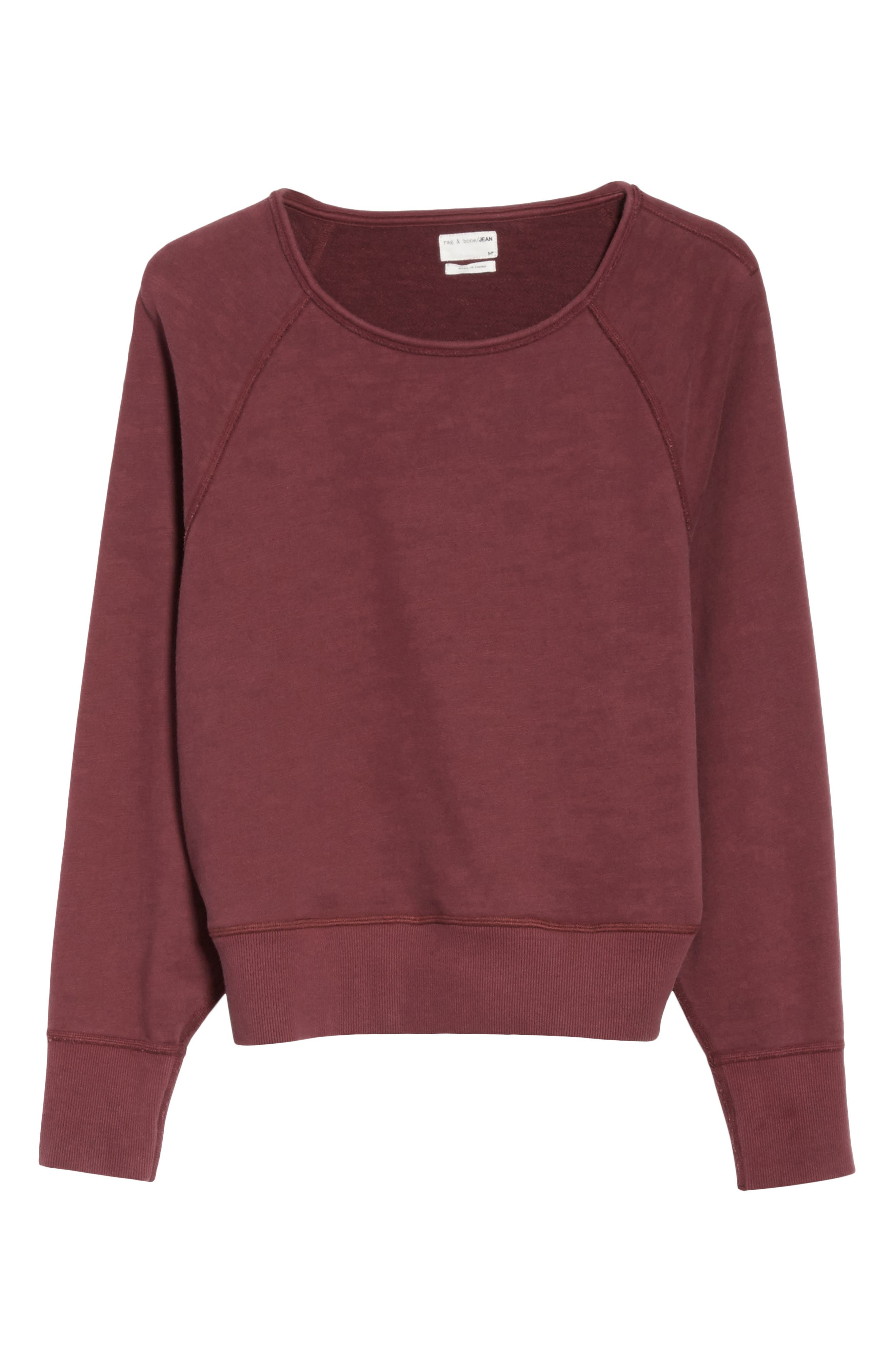 Classic Crop Pullover,                             Alternate thumbnail 6, color,                             618