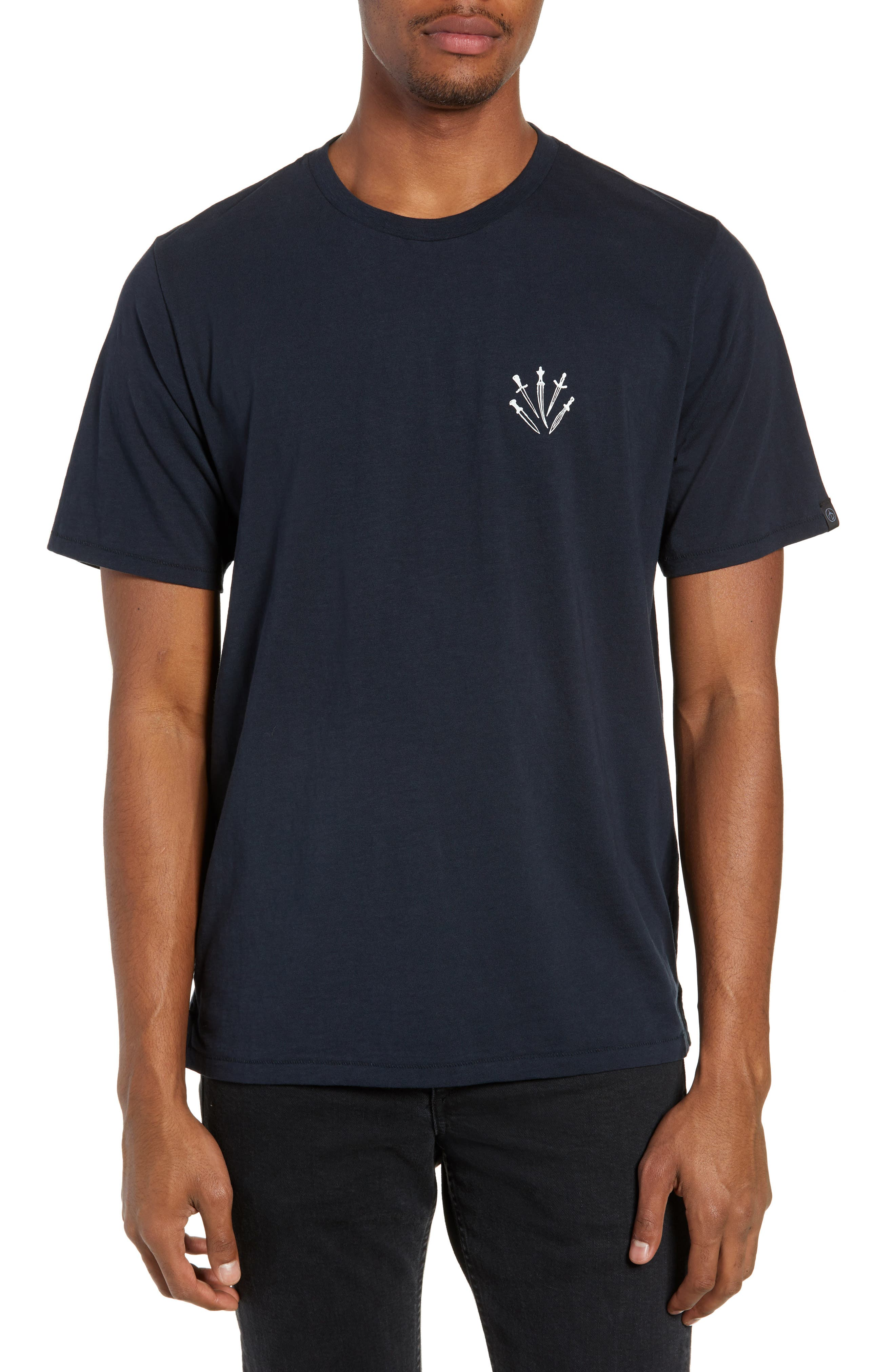 Dagger Graphic T-Shirt,                         Main,                         color, NAVY