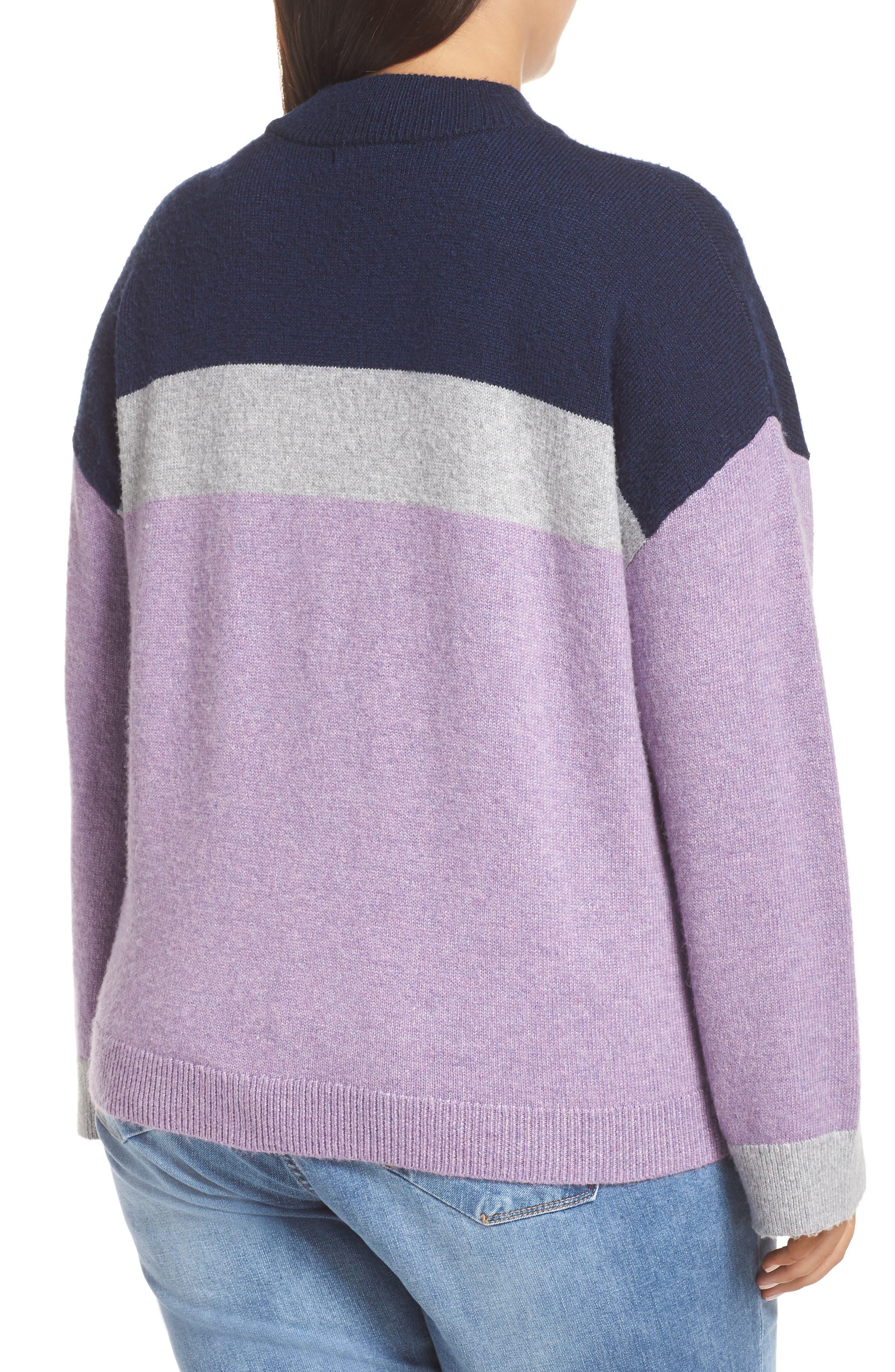Chevron Stripe Sweater,                             Alternate thumbnail 2, color,                             PURPLE WAVE CHALET