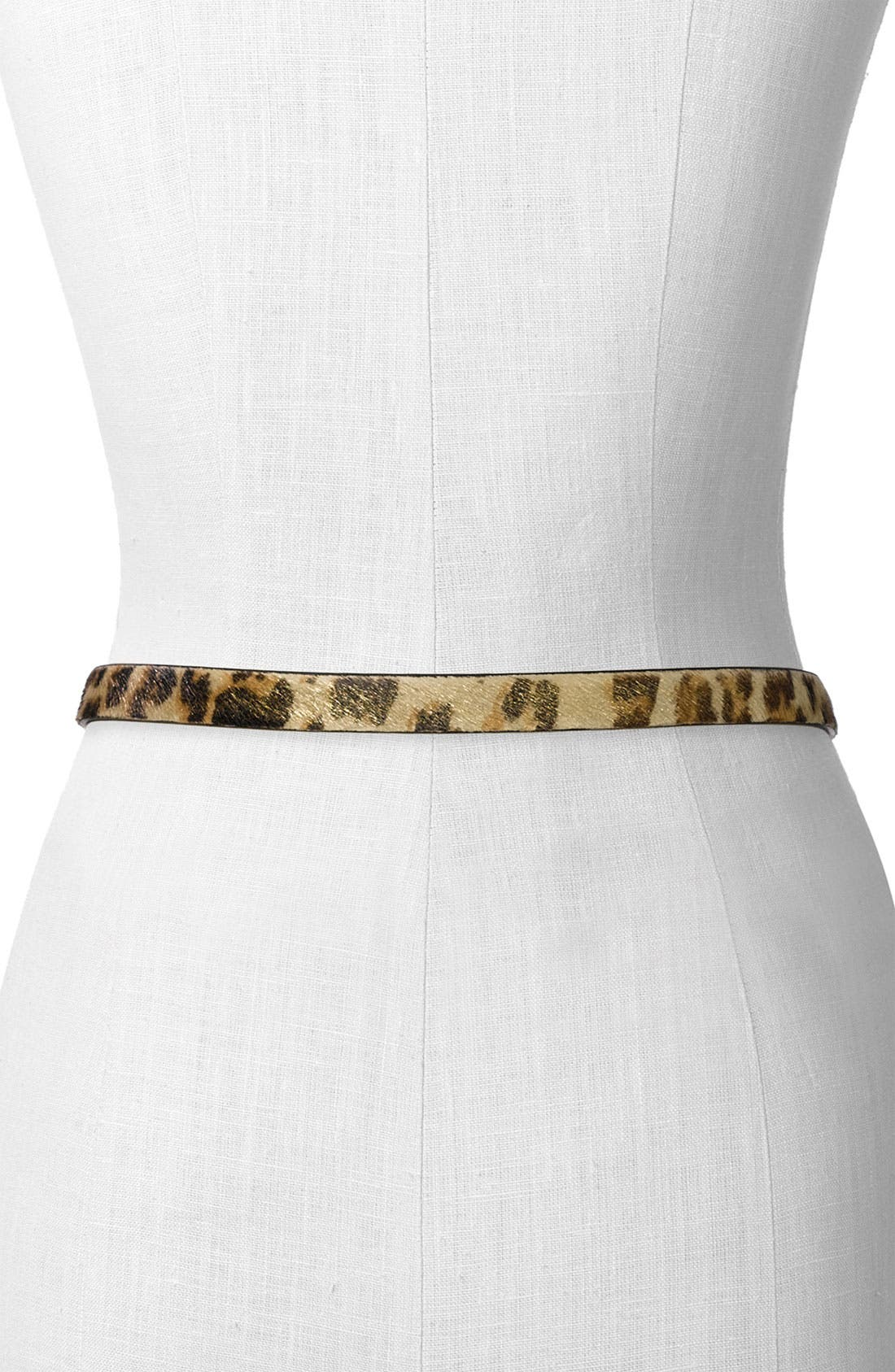 Reversible Skinny Belt,                             Alternate thumbnail 2, color,                             001