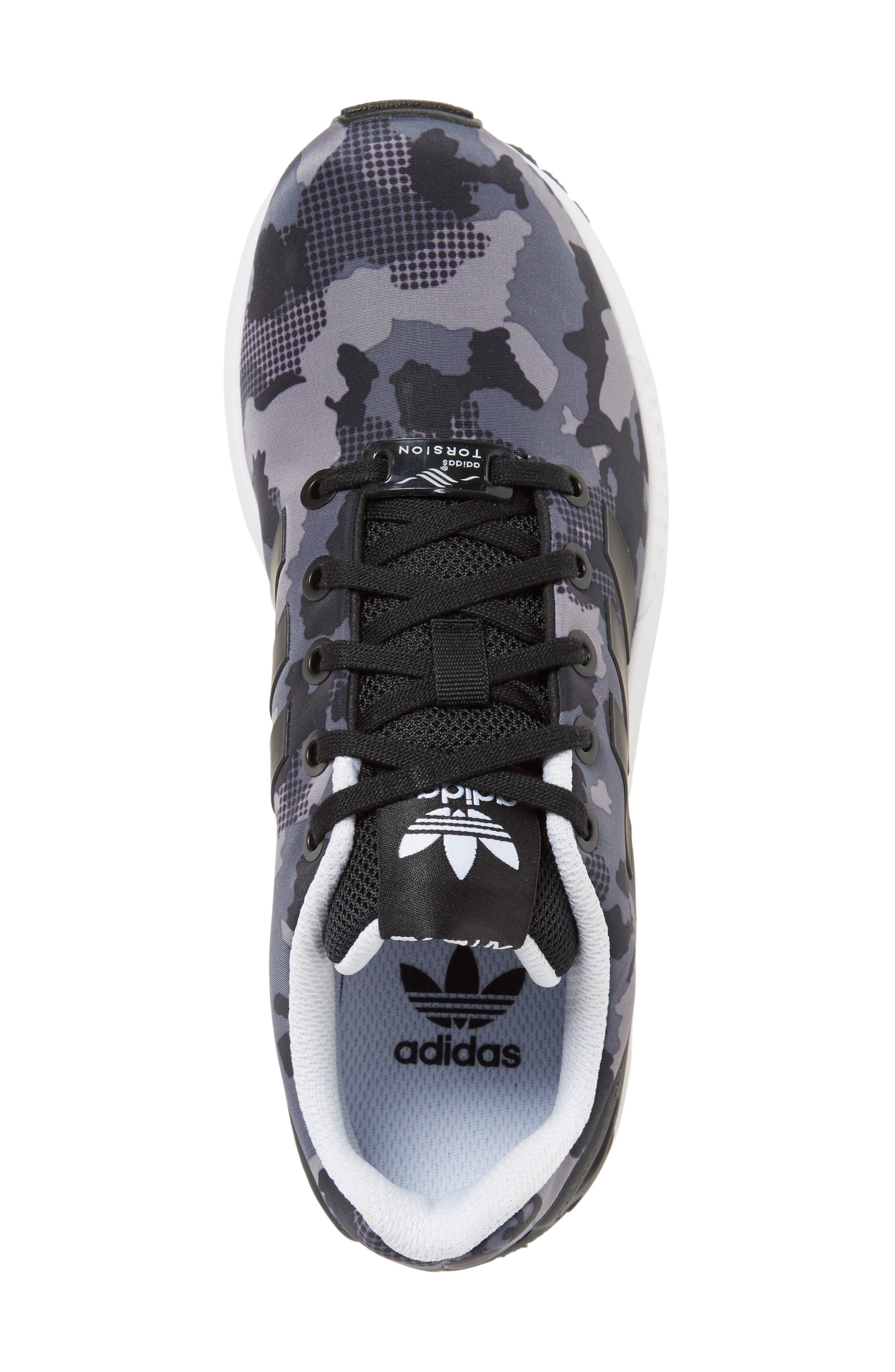 'ZX Flux EL' Sneaker,                             Alternate thumbnail 5, color,                             001
