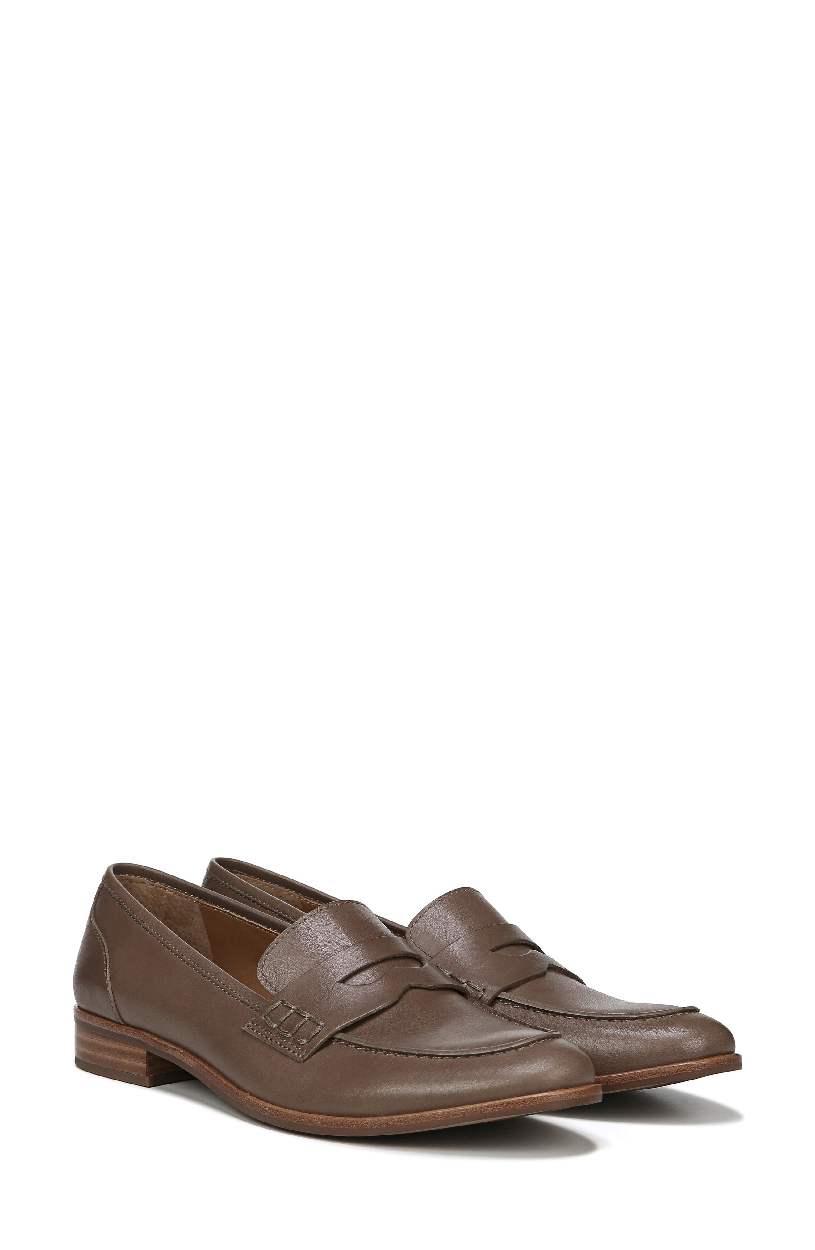 SARTO BY FRANCO SARTO,                             'Jolette' Penny Loafer,                             Alternate thumbnail 8, color,                             DARK PUTTY LEATHER