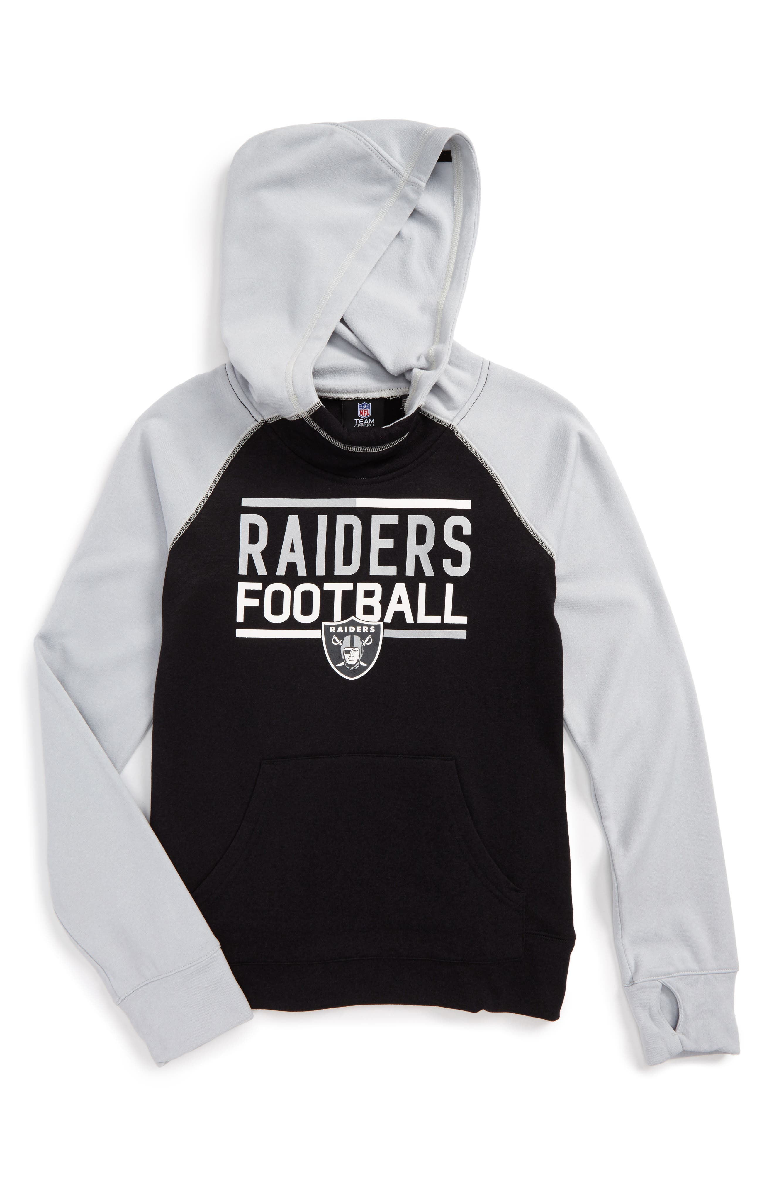 NFL Oakland Raiders Hoodie,                             Main thumbnail 1, color,                             006