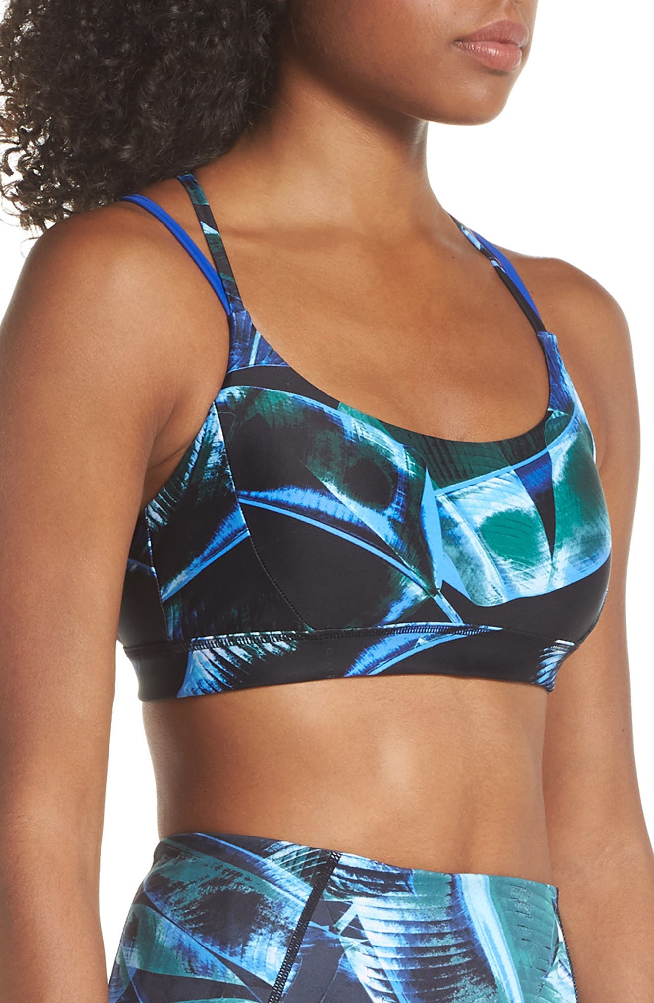 So Hot Print Sports Bra,                             Alternate thumbnail 3, color,                             310